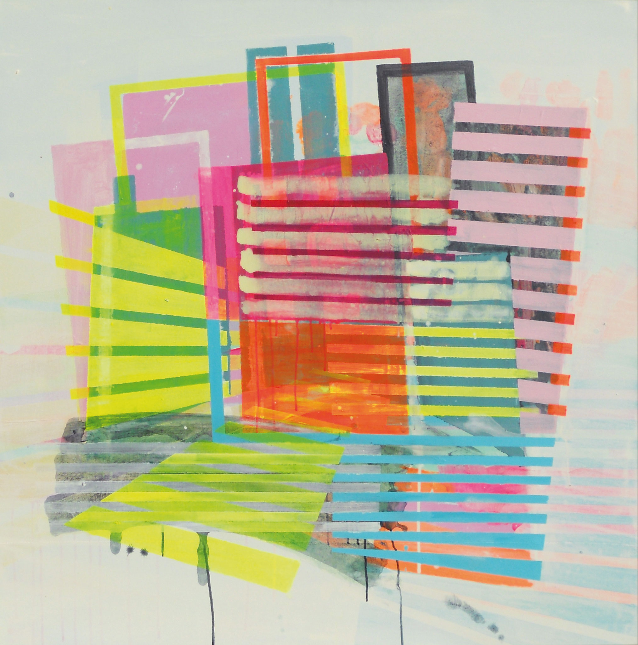 Light&Brigth 15 120x120 cm  2019 Pigmente/Binder auf Leinwand