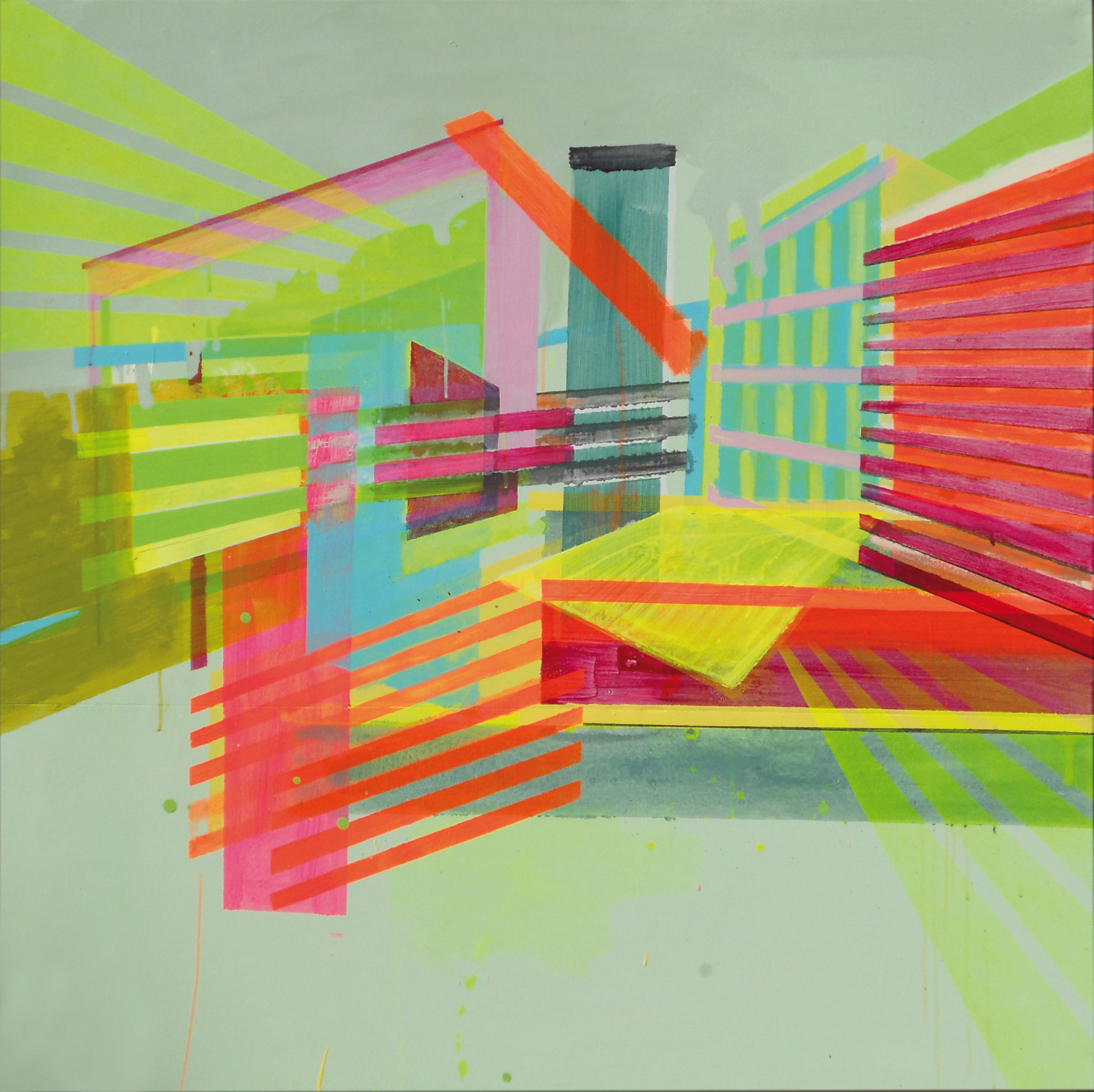 Light&Brigth 17 120x120 cm  2019 Pigmente/Binder auf Leinwand