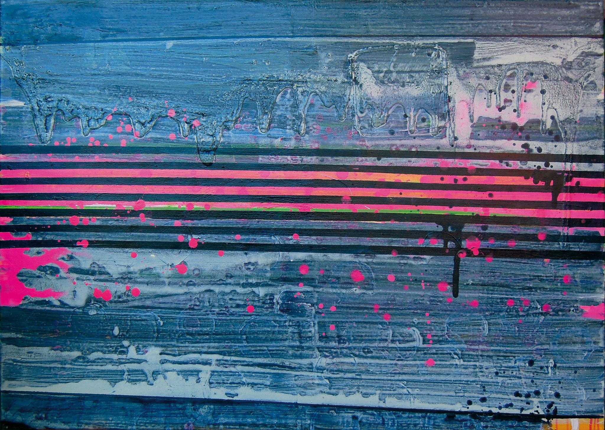 Stripes XVI   140x100cm 2014 Pigmente / Binder auf Leinwand