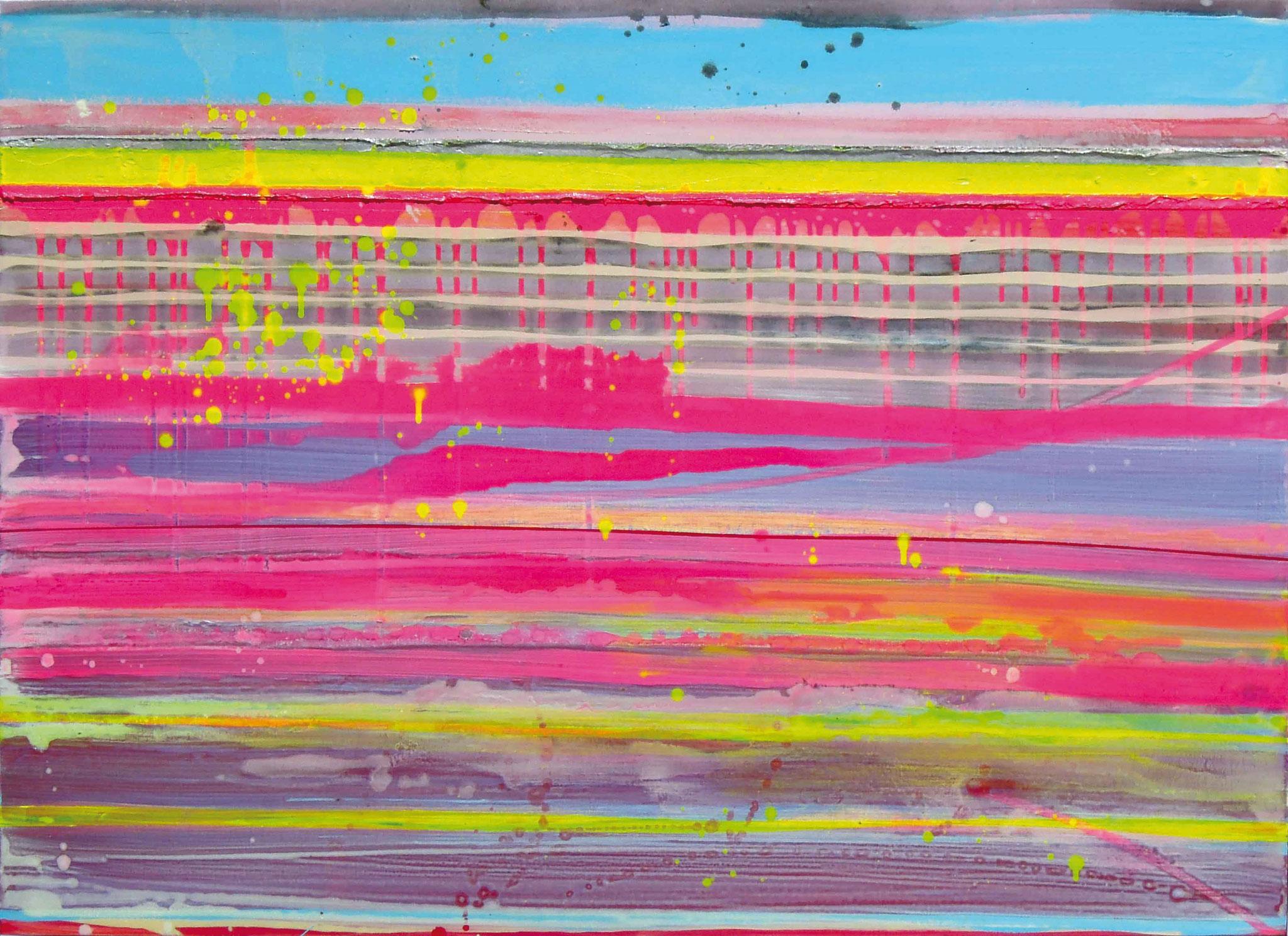 Stripes XVII   140x100cm 2014 Pigmente / Binder auf Leinwand