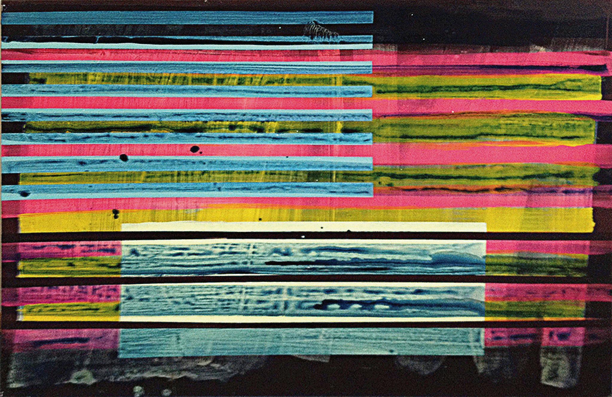 Stripes II   140x100cm 2013 Pigmente / Binder auf Leinwand