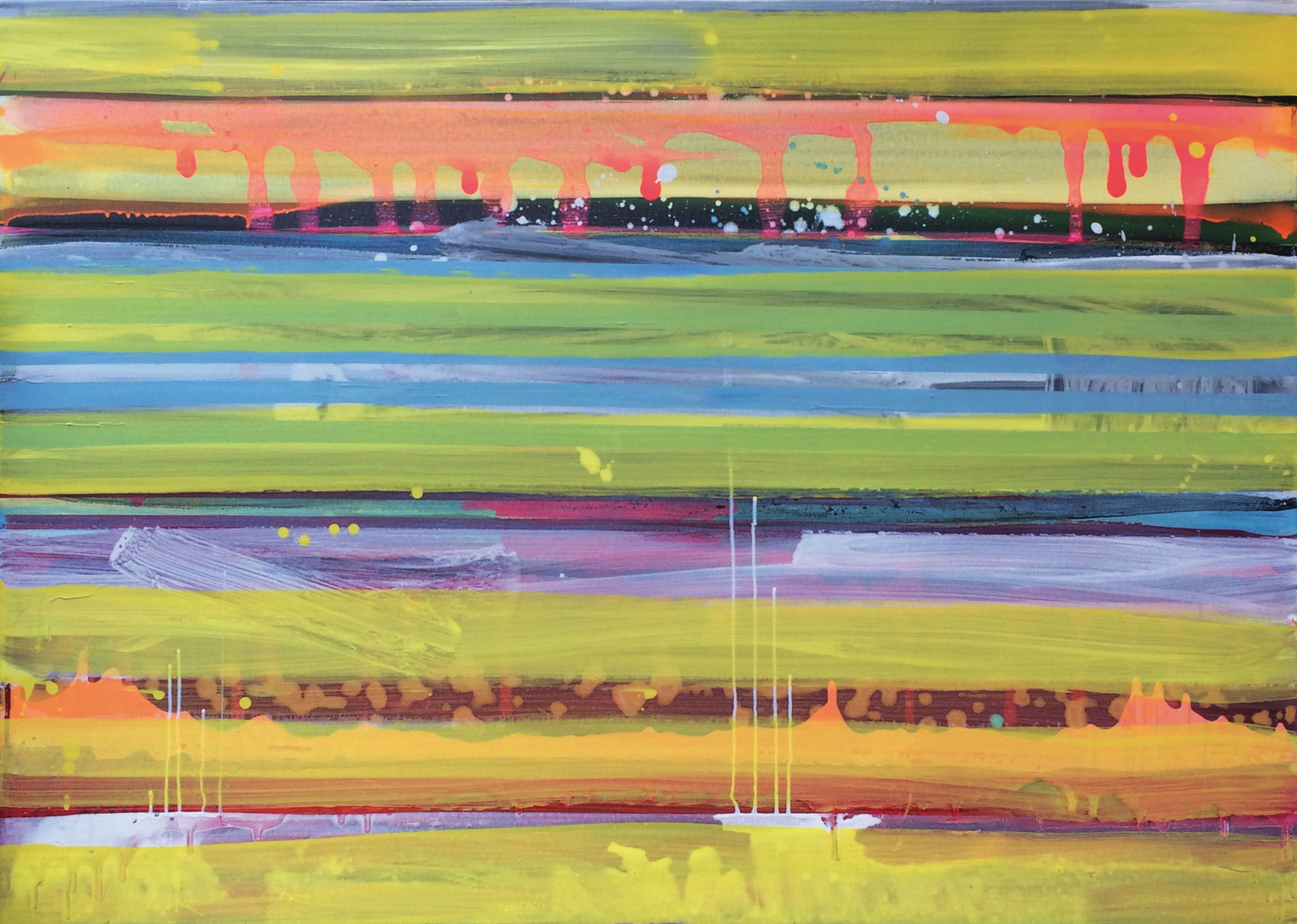 Stripes XX   140x100cm 2017 Pigmente / Binder auf Leinwand