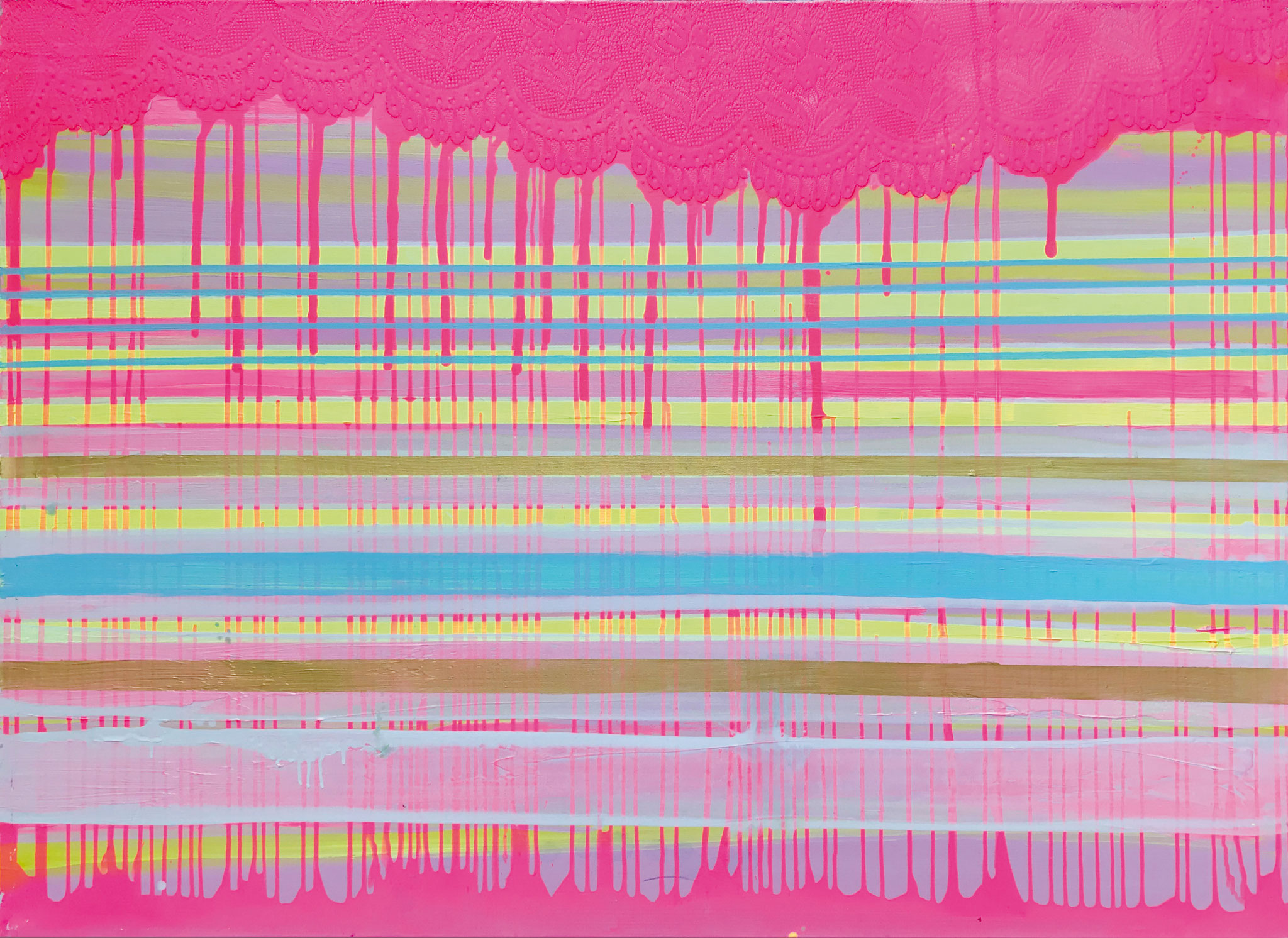 Stripes XIV   140x100cm 2014 Pigmente / Binder auf Leinwand