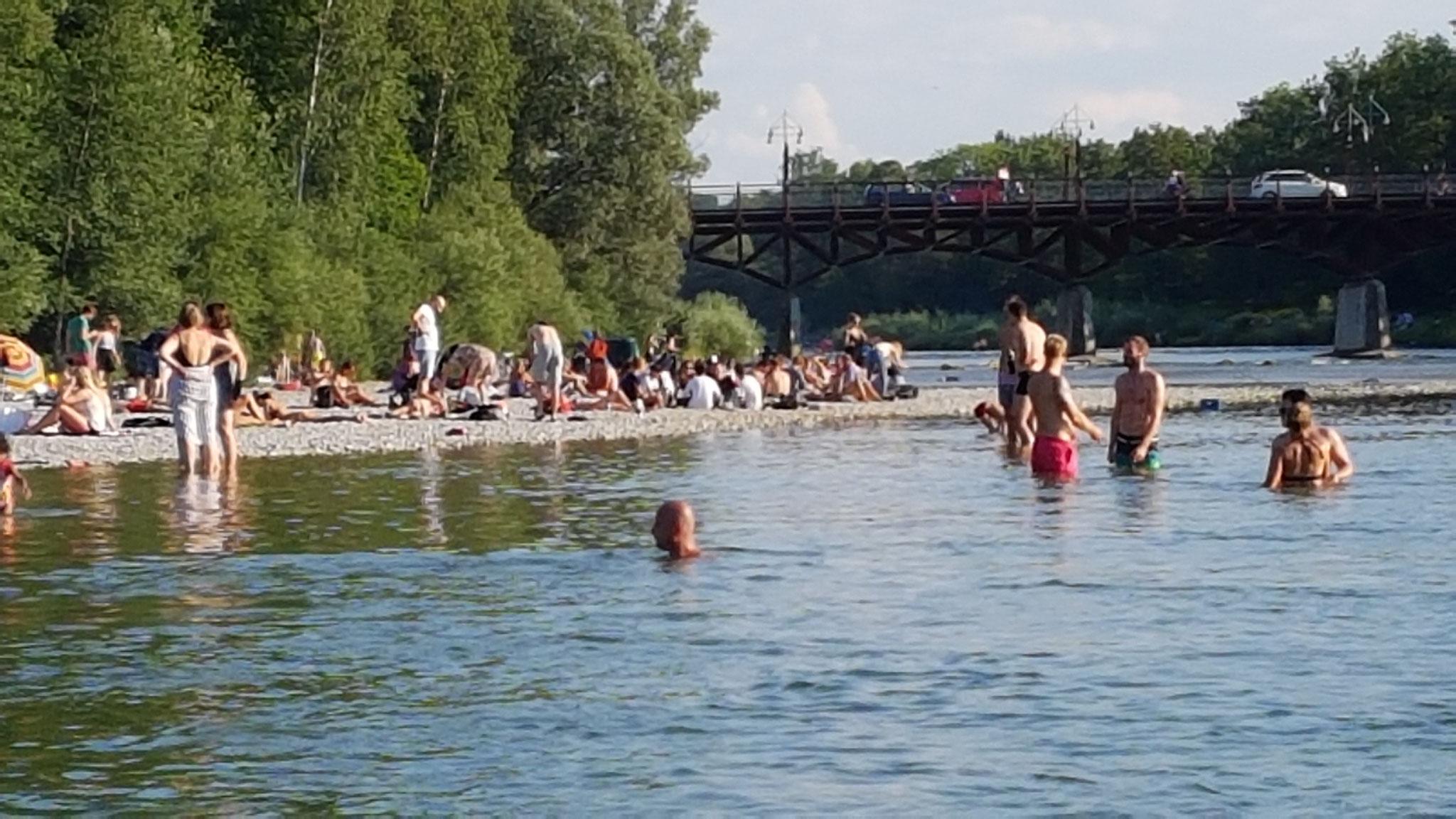 per U3 nach Thalkirchen: Aufpumpen an der Tierparkbrücke