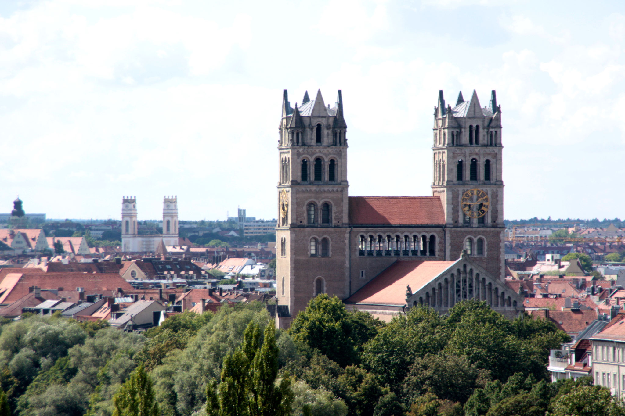 St. Maximilian von der Dachterasse d. Deutschen Museums (Archivfoto)