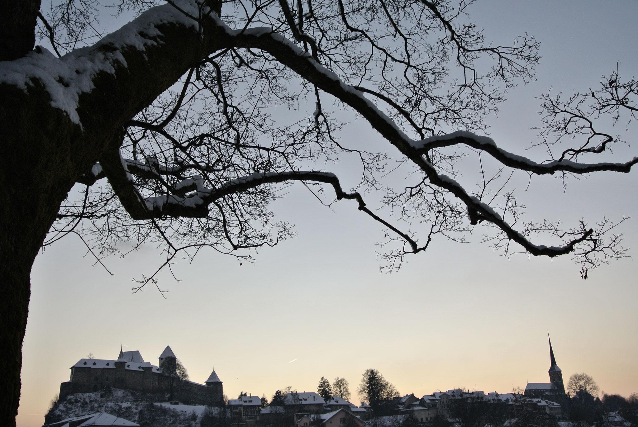 Sicht auf Schloss und Stadtkirche Burgdorf