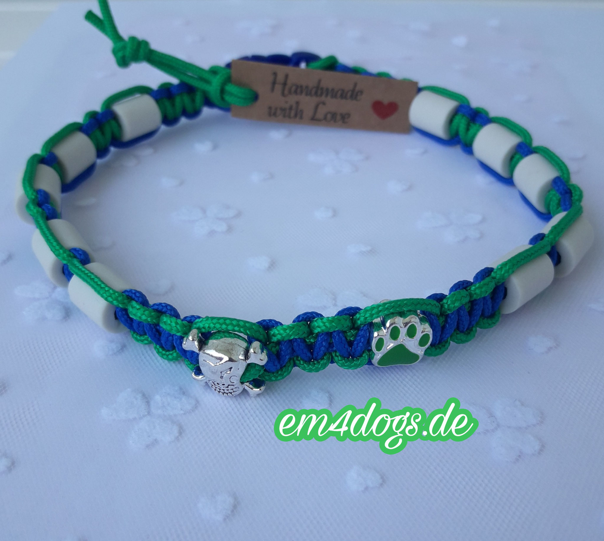 em4dogs.de EM-Keramik Hundehalsband  grün blau