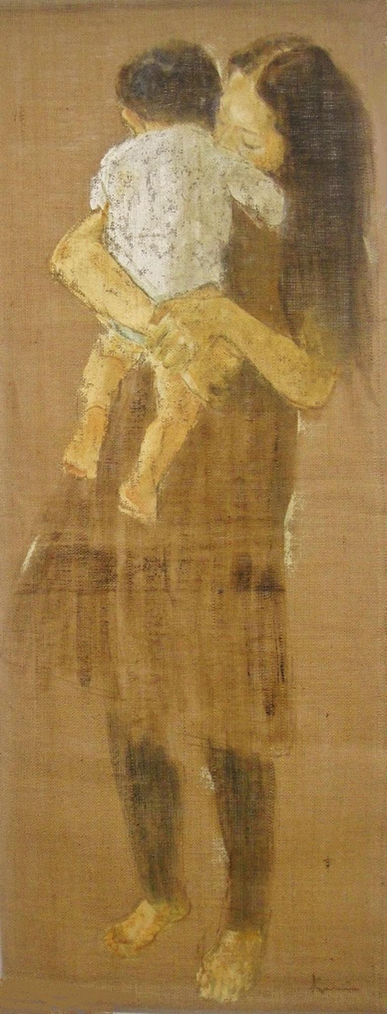 ダキシメルオモイ 」 1450×550 麻布・油彩・2009年