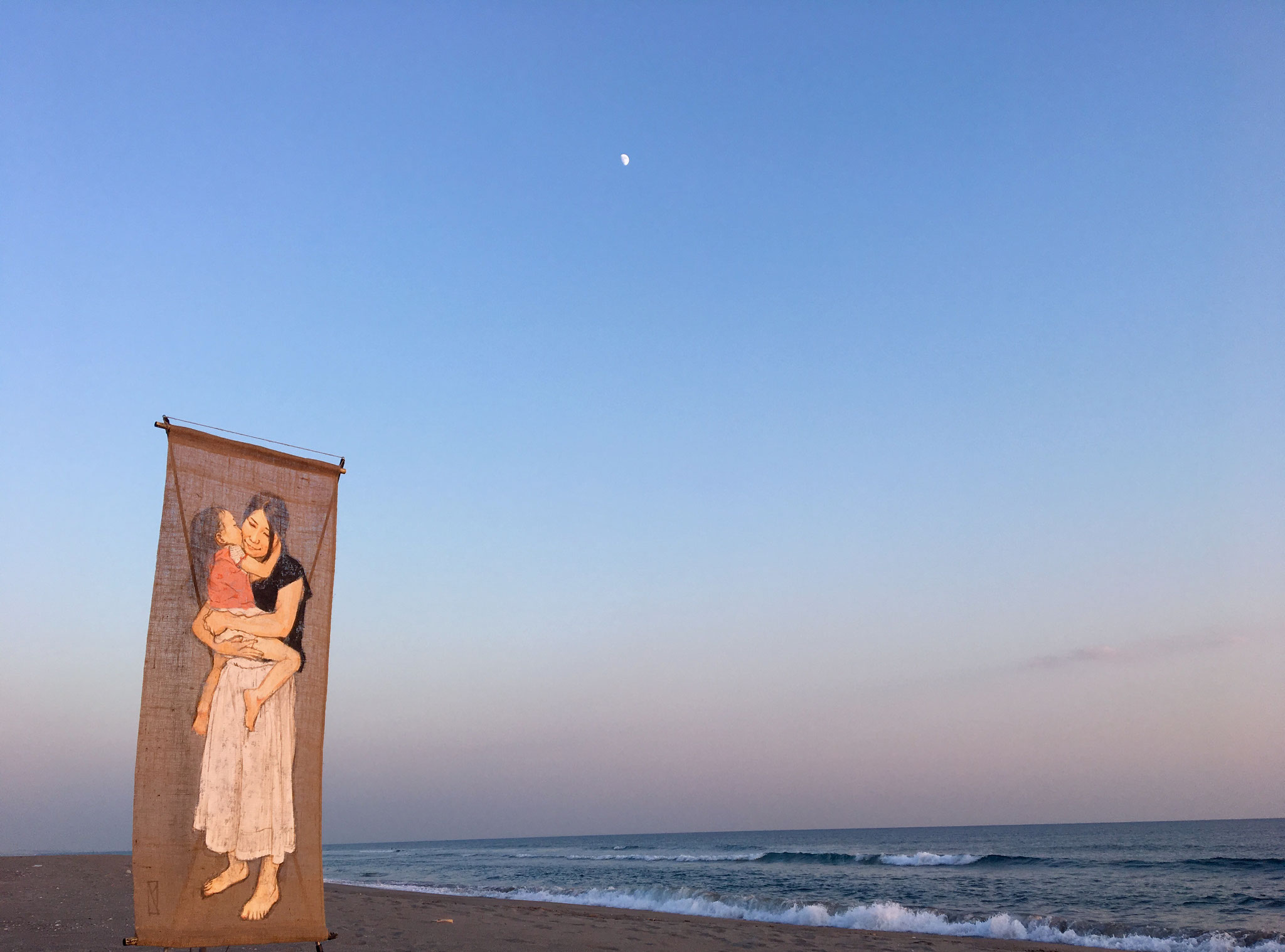 表浜海岸 (愛知県・田原市) 2016年