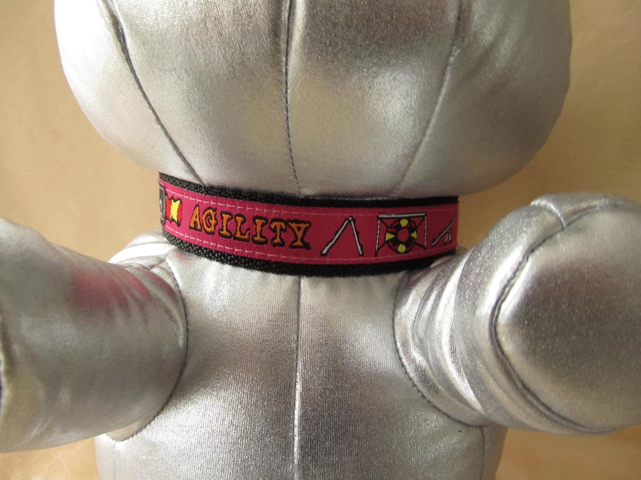 Halsband mit Agility-Aufdruck, Breite 2 cm, Halsumfang 36 cm, Preis 24,00 €