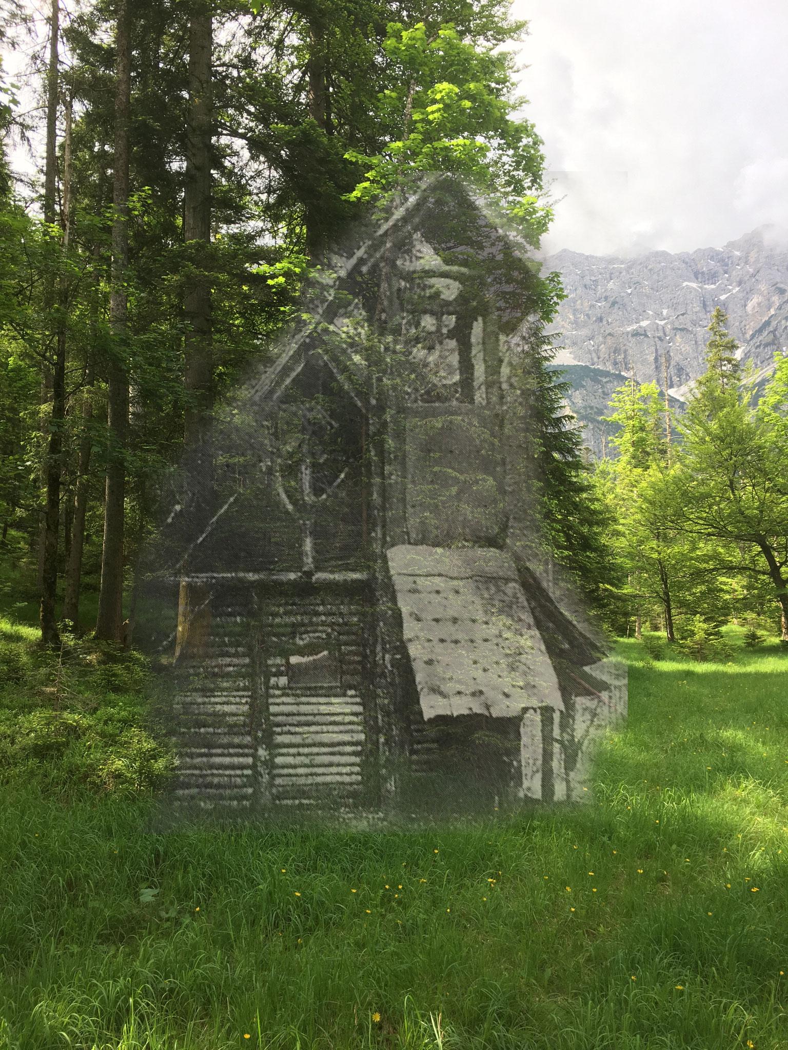 Originalstandort der Einsiedelei mit Gebäude
