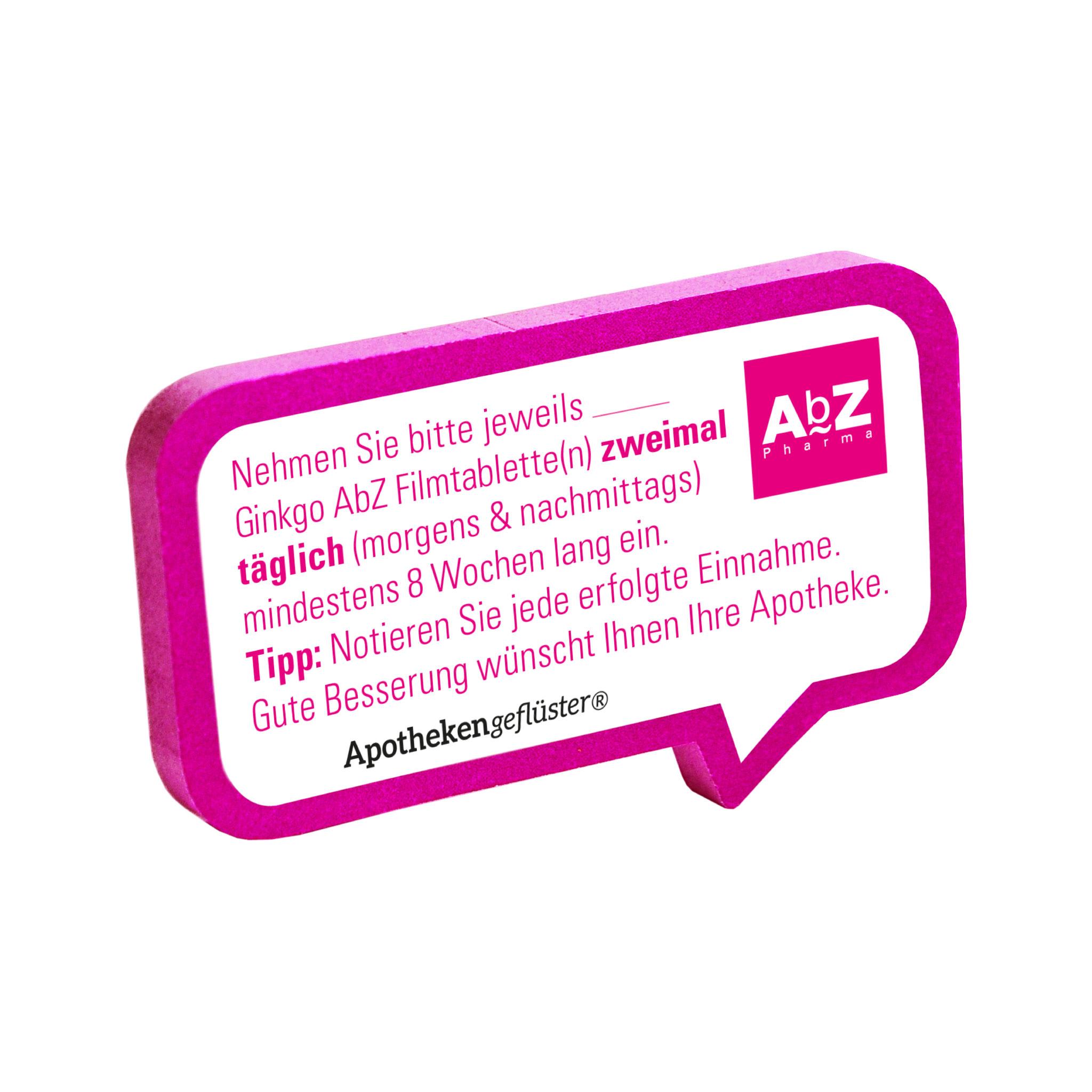 Apothekengeflüster_AbZ Pharma_Beratungssticker Ginkgo_Stickerblock