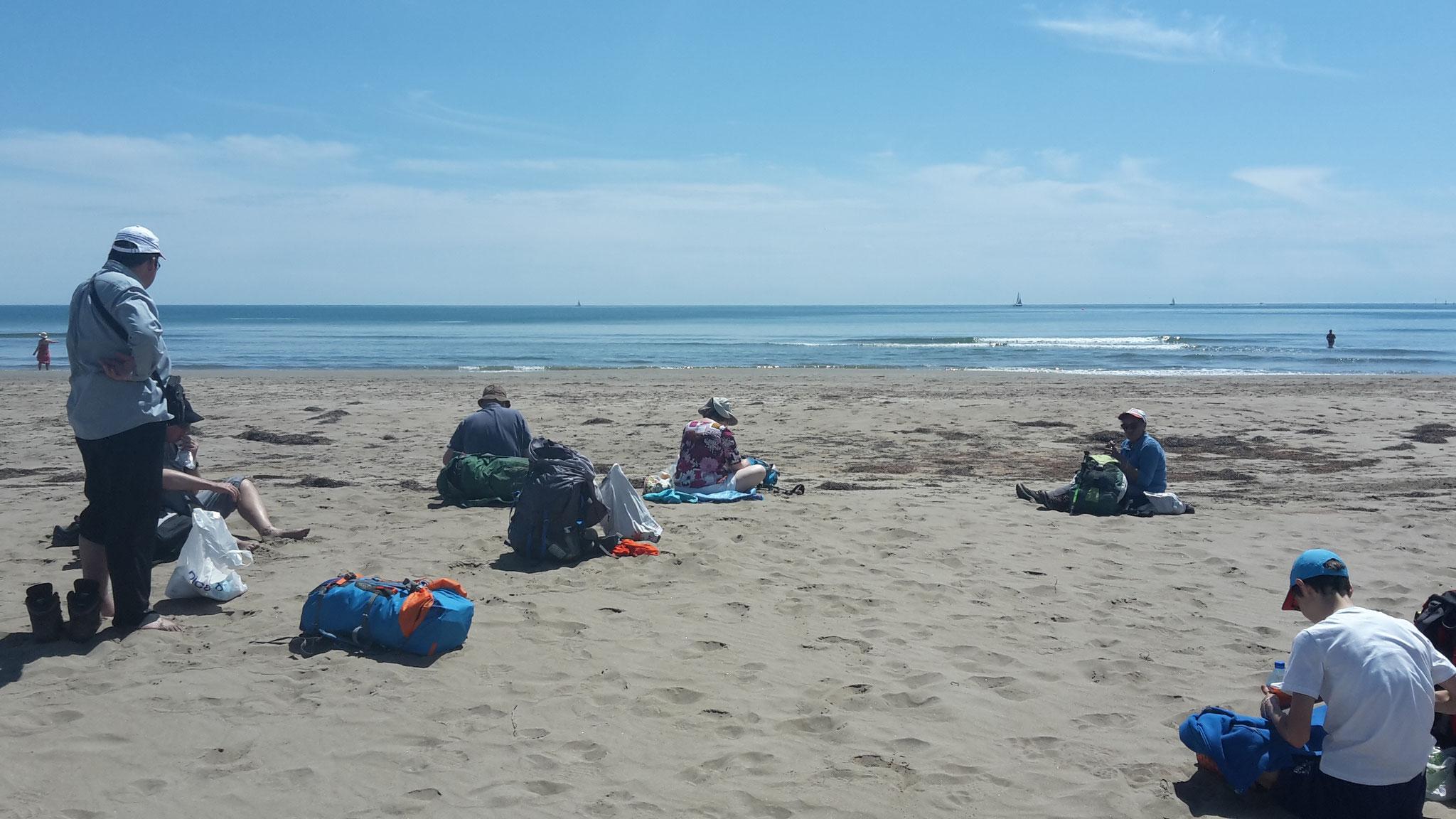 Départ sur la plage, plage de gruissan