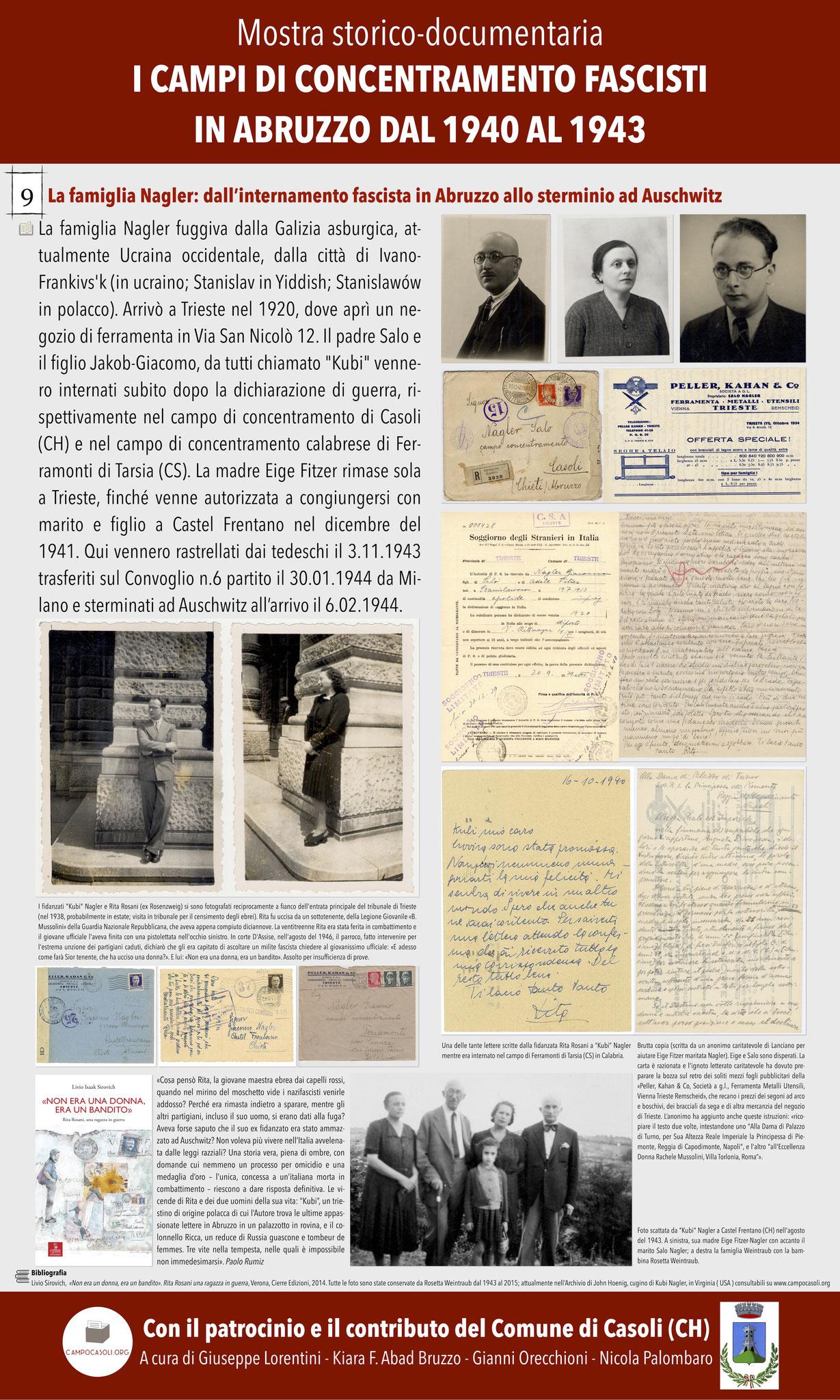 9. La famiglia Nagler: dall'internamento fascista in Abruzzo allo sterminio ad Auschwitz