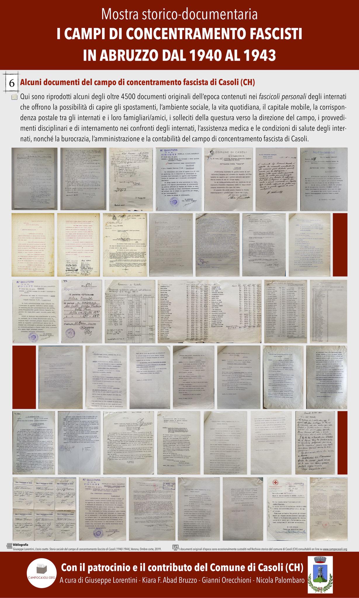 6. Alcuni documenti del campo di concentramento fascista di Casoli (CH)