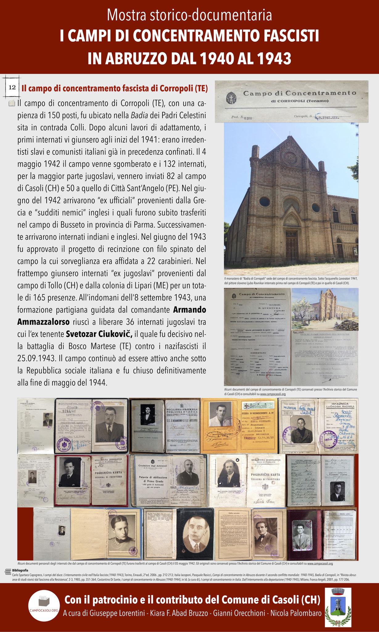 12. Il campo di concentramento fascista di Corropoli (TE)