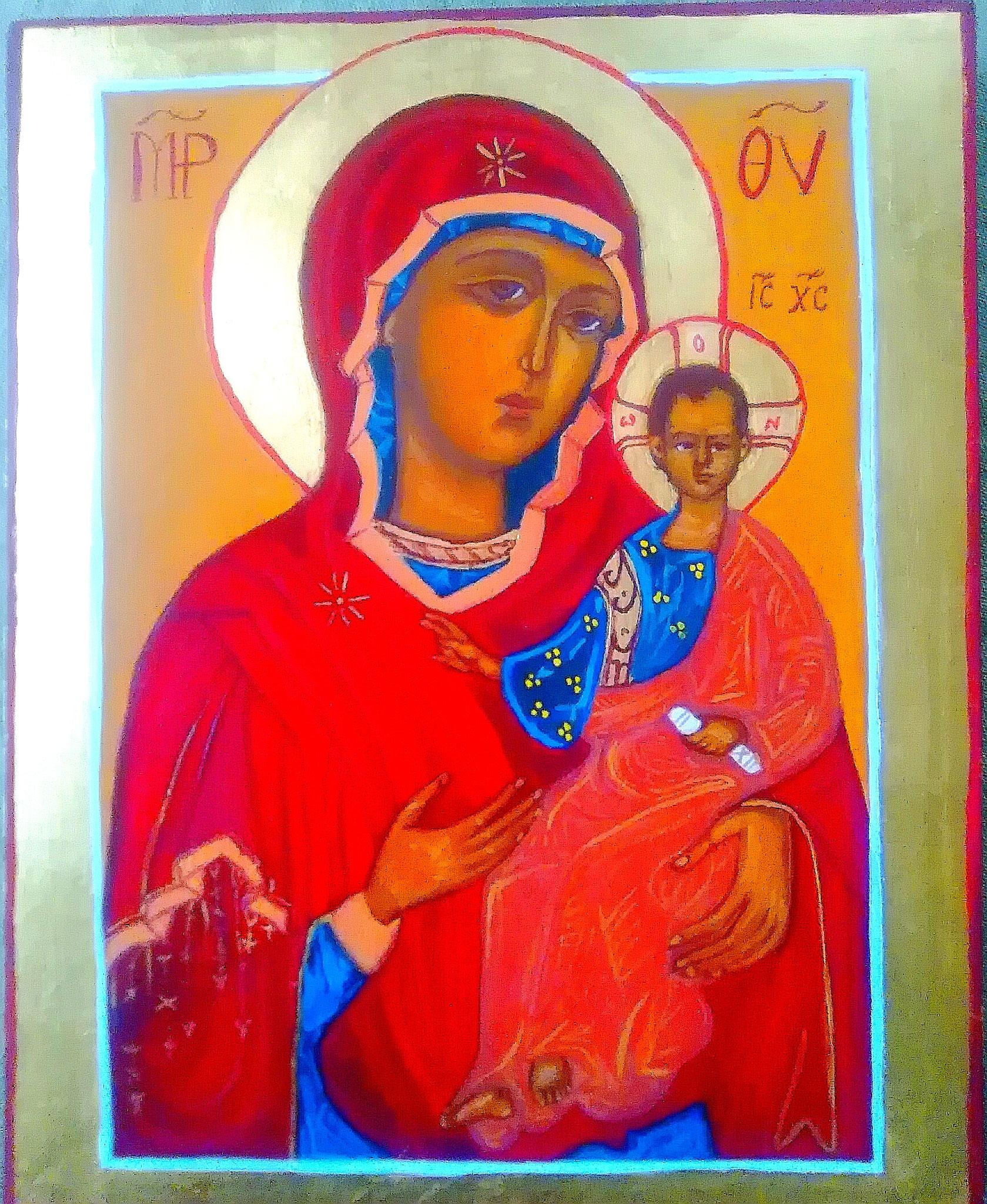 Vera`s erste Ikone geschrieben im Februar 2017 , geweiht