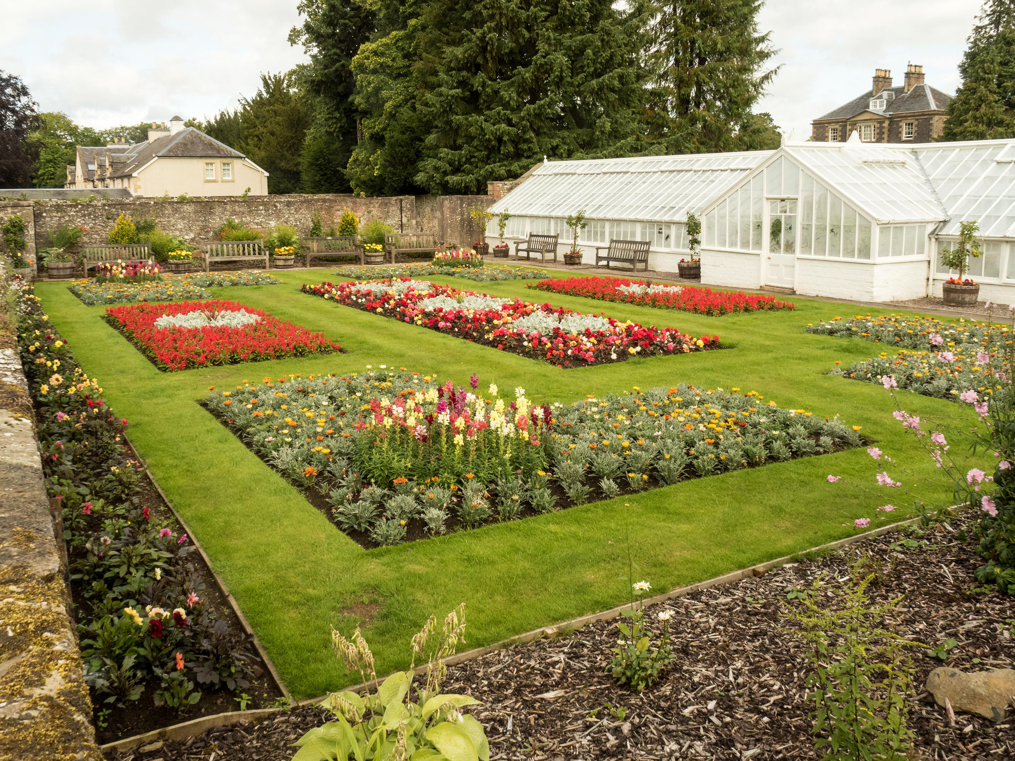Bild: Melrose Garten beim Abbey House