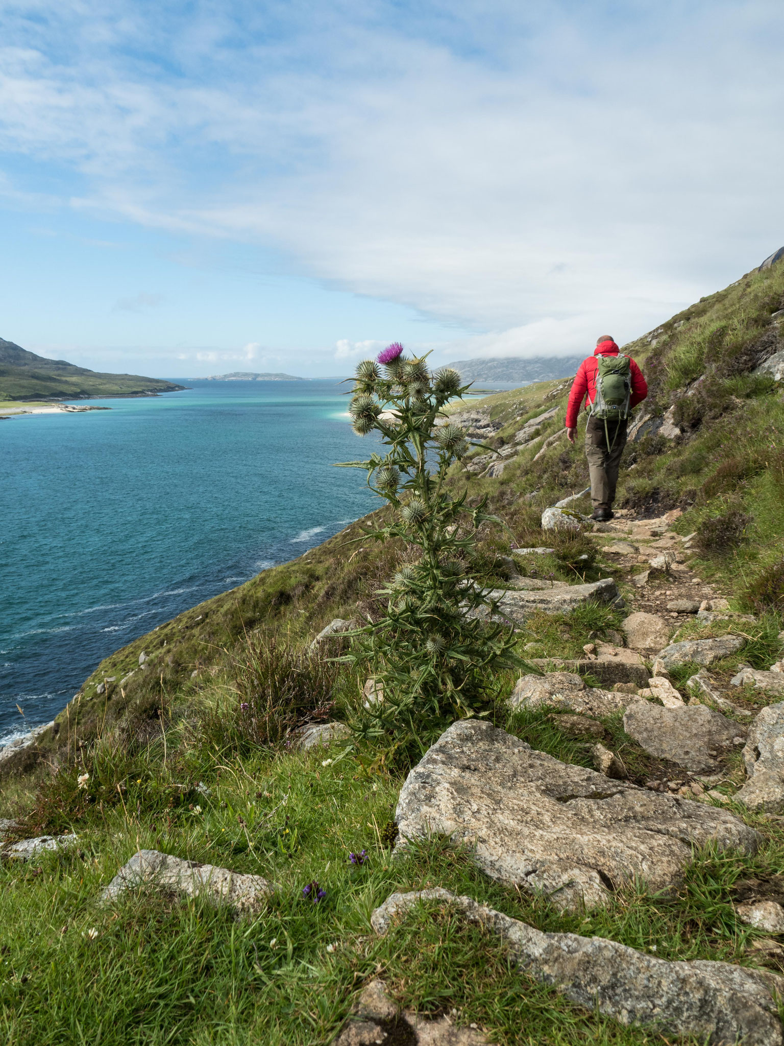 Bild: Wanderung zum Strand von Traigh Mheileig