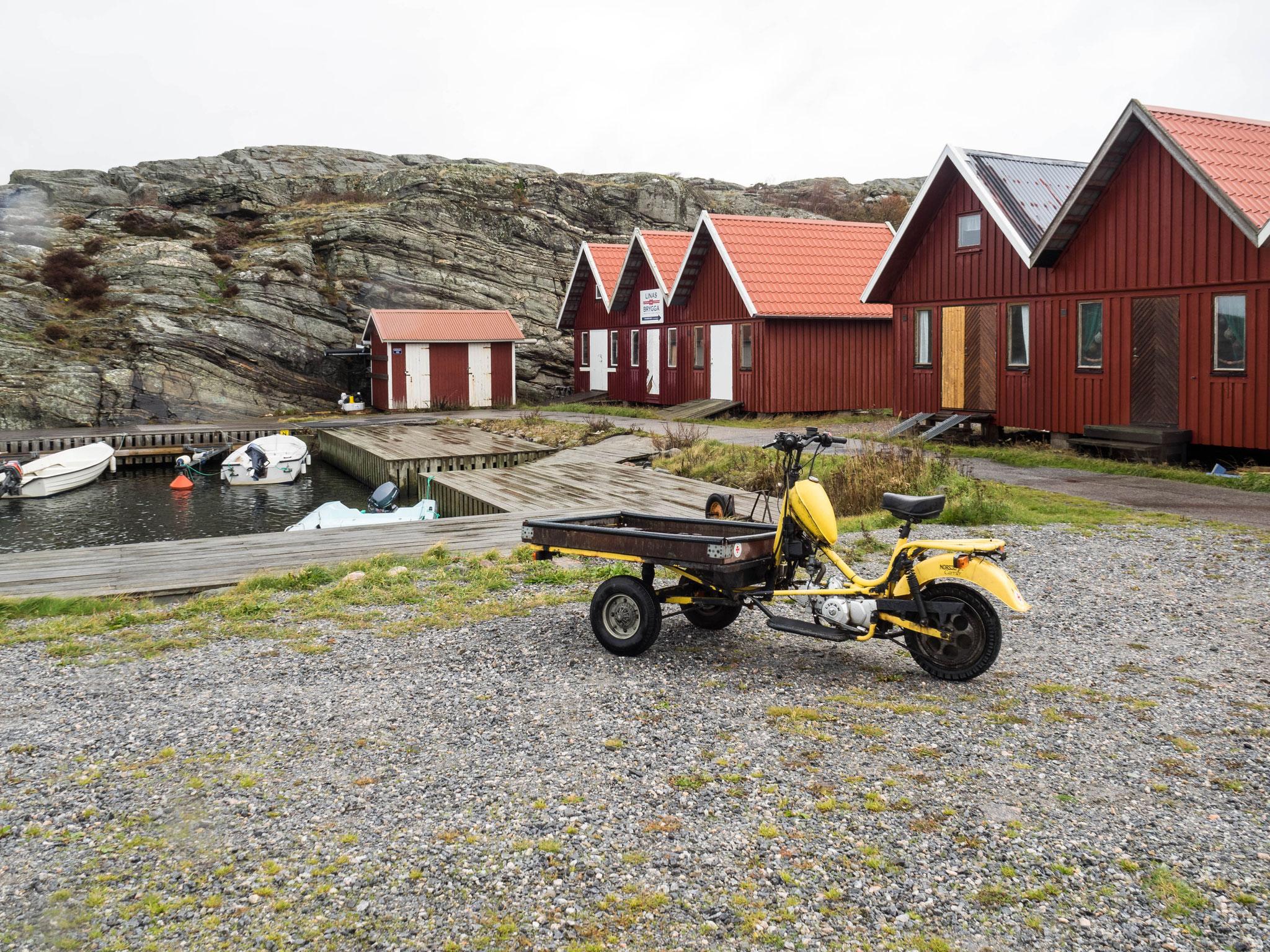 Lasttaxi auf der autofreien Insel