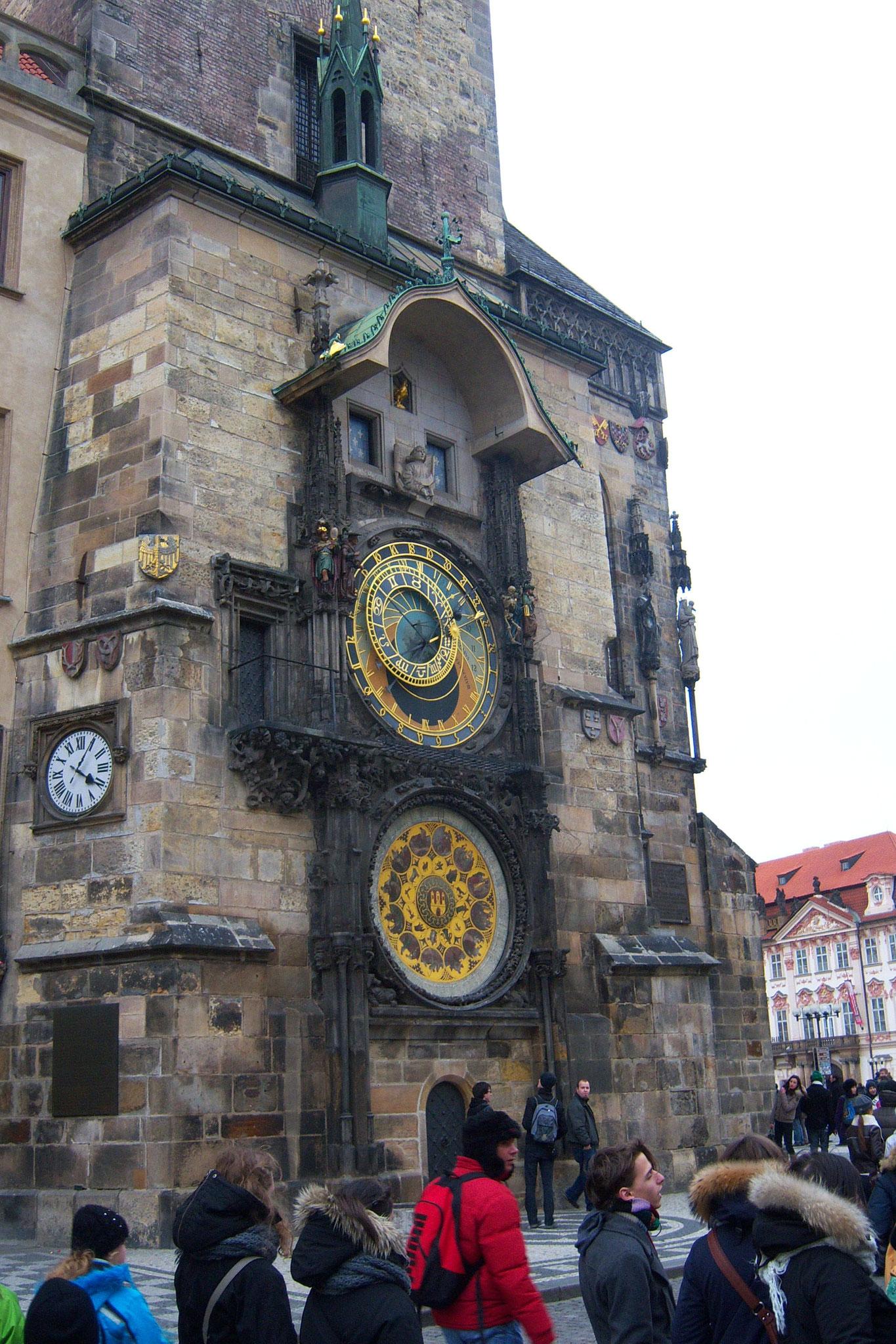 Blick auf die Prager Rathausuhr