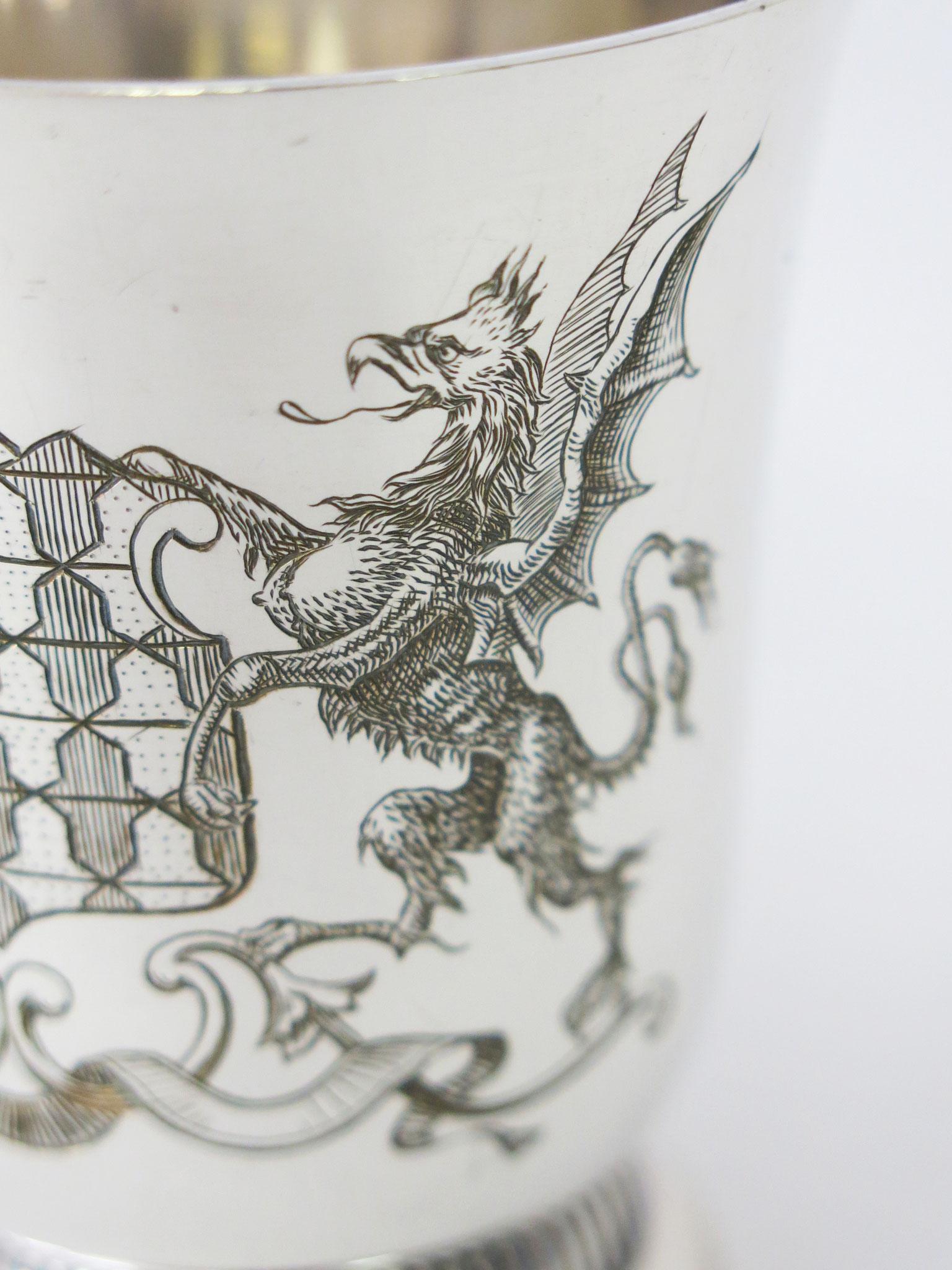 Détail de la gravure : le griffon