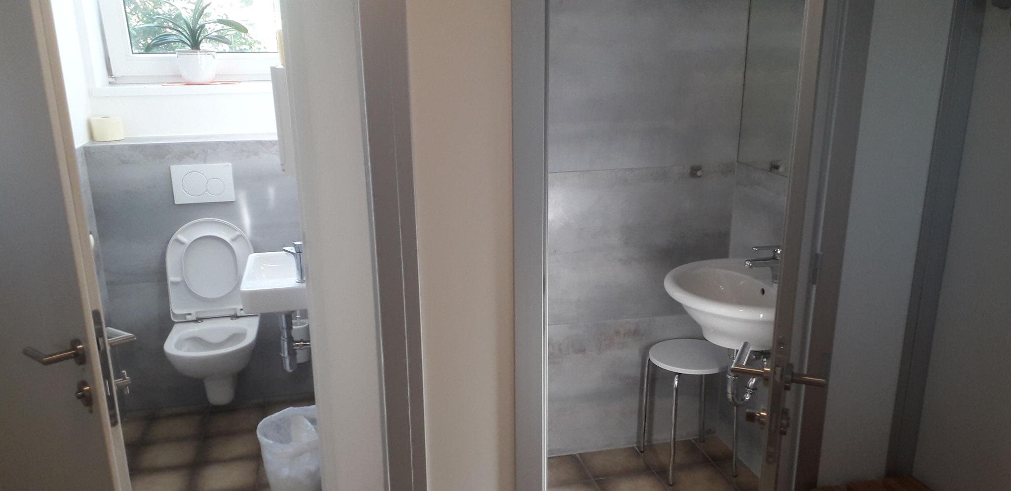 Neue Duschen und WC Anlagen
