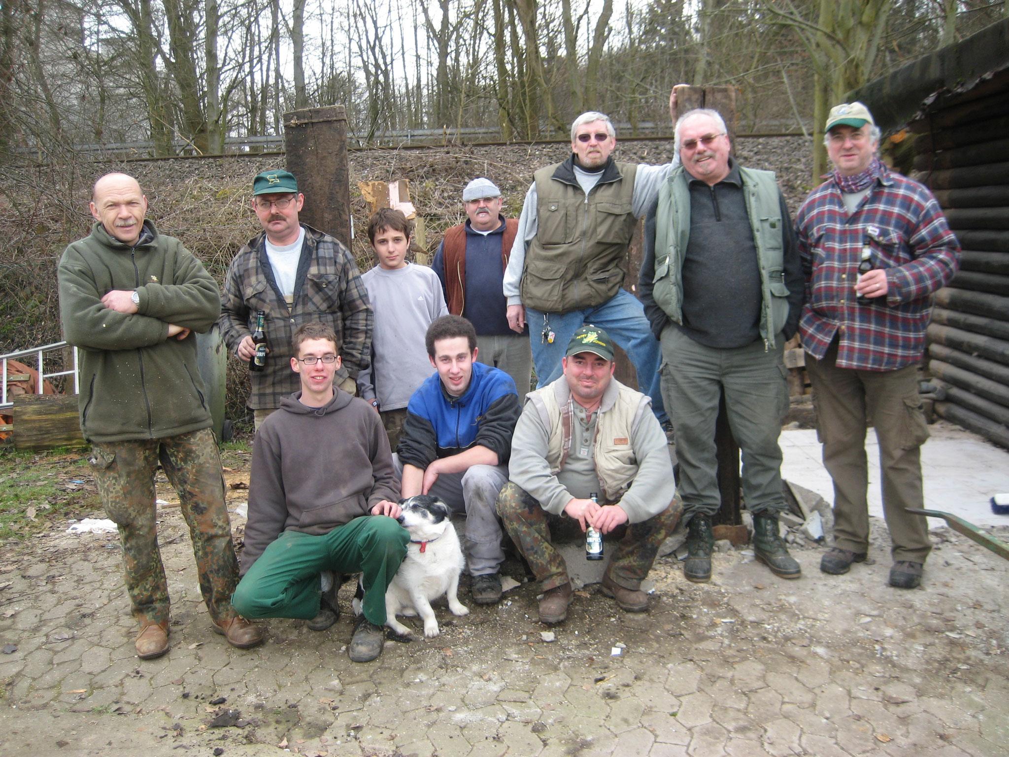 Das Bauteam unserer neuen Hütte 2009
