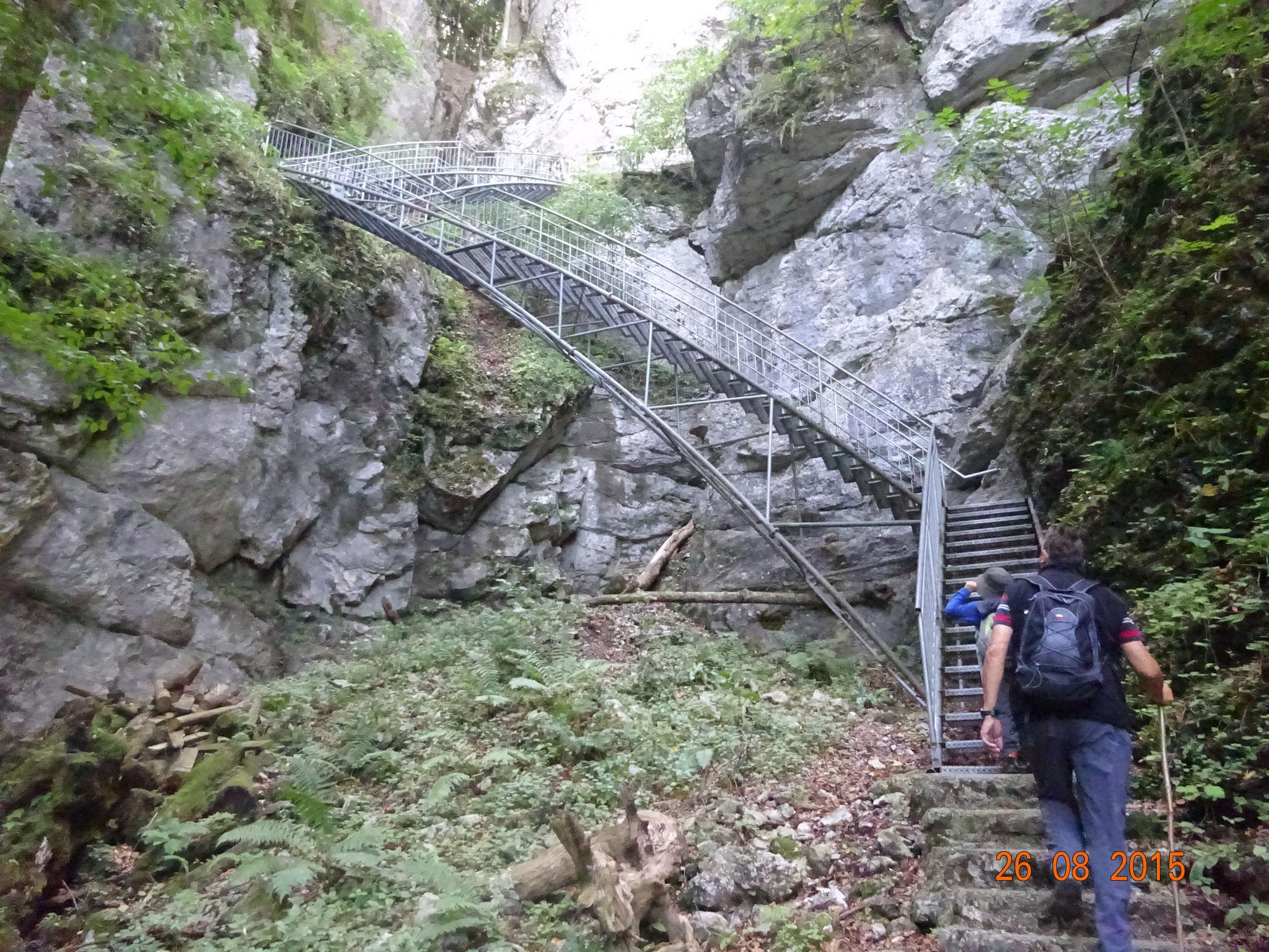 Aufstieg zur Ötschertropfsteinhöhle