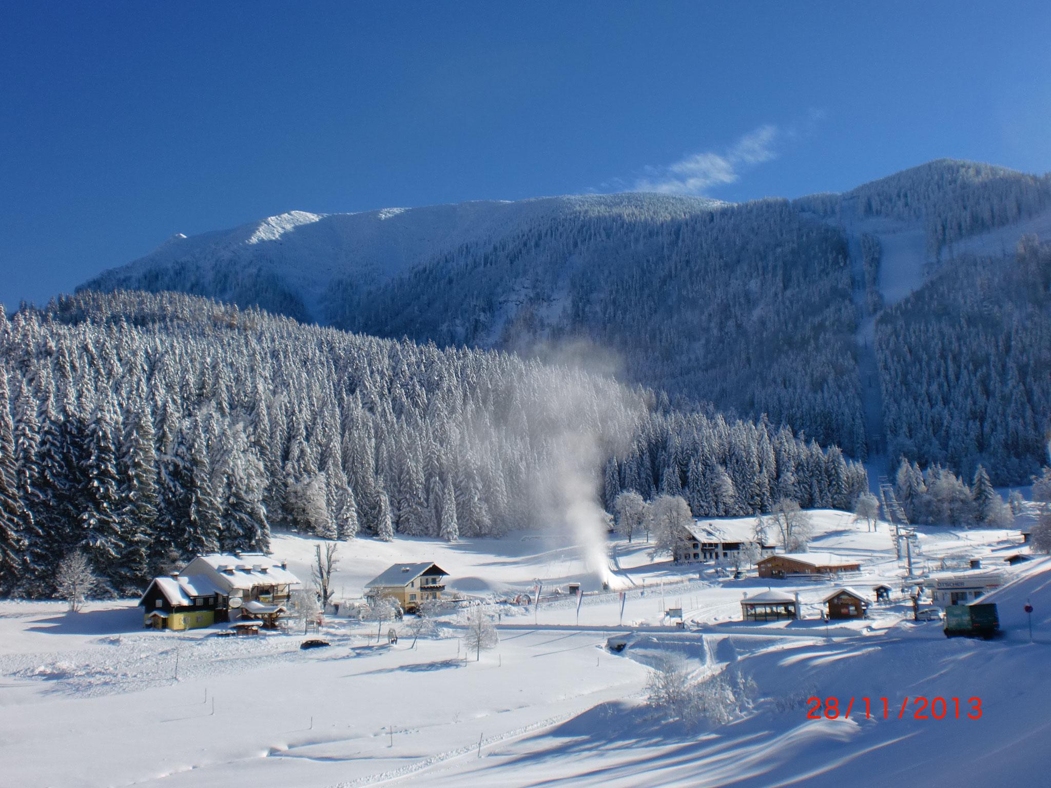 Herrliche Winterlandschaft direkt am Fuße des Ötschers