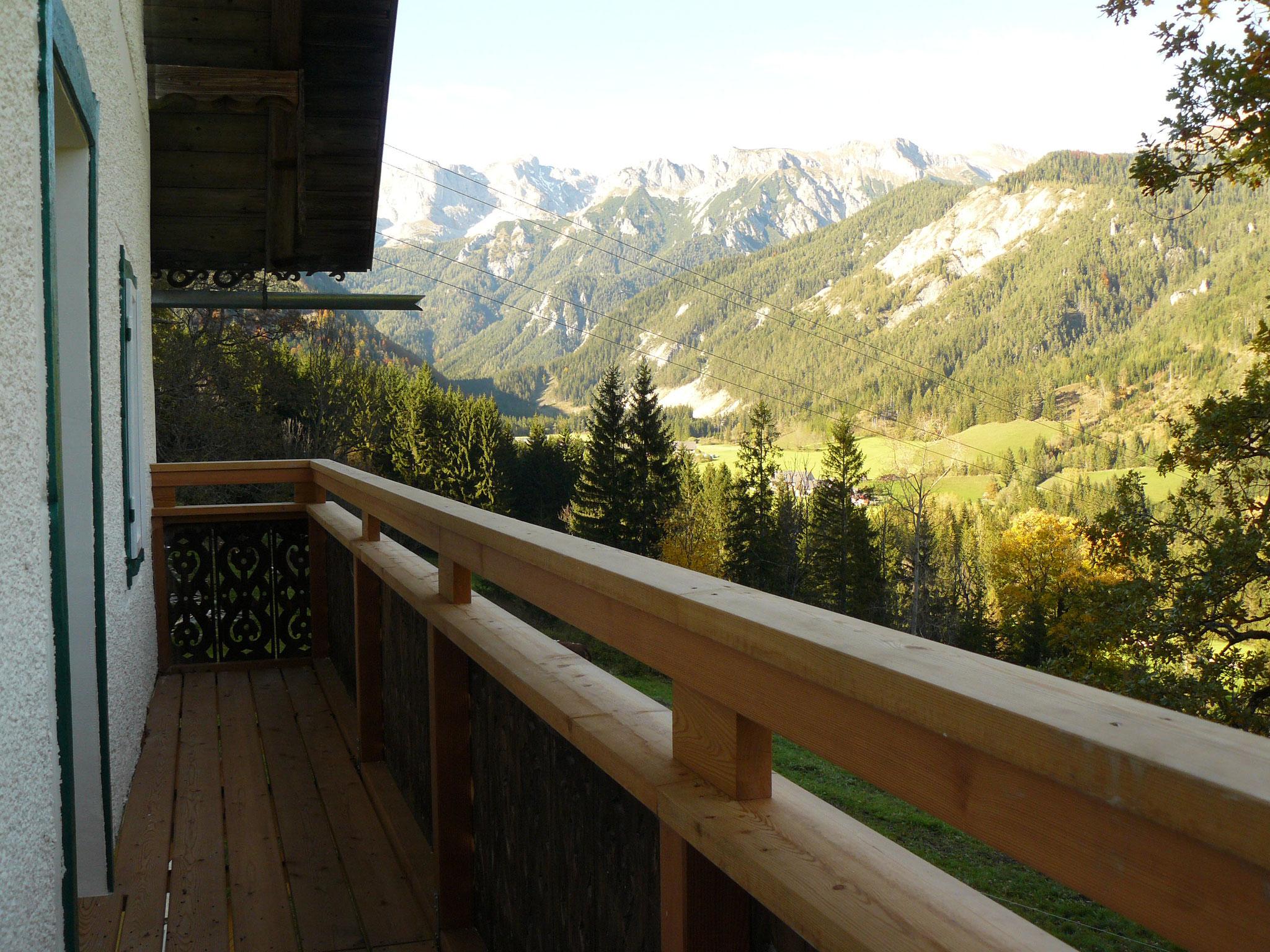 Balkon mit einmaliger Aussicht