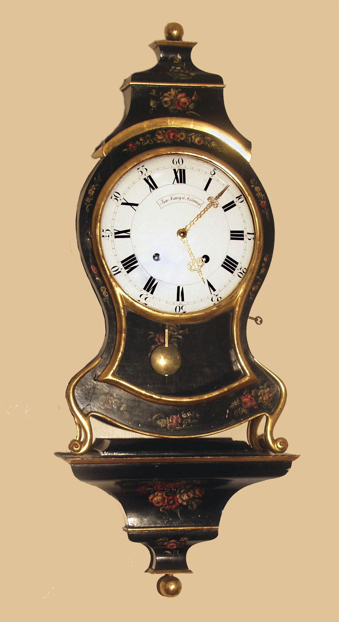 Neuenburer Pendule ca. 1800 (hergestellt von Jsaak Haury Aarburg)