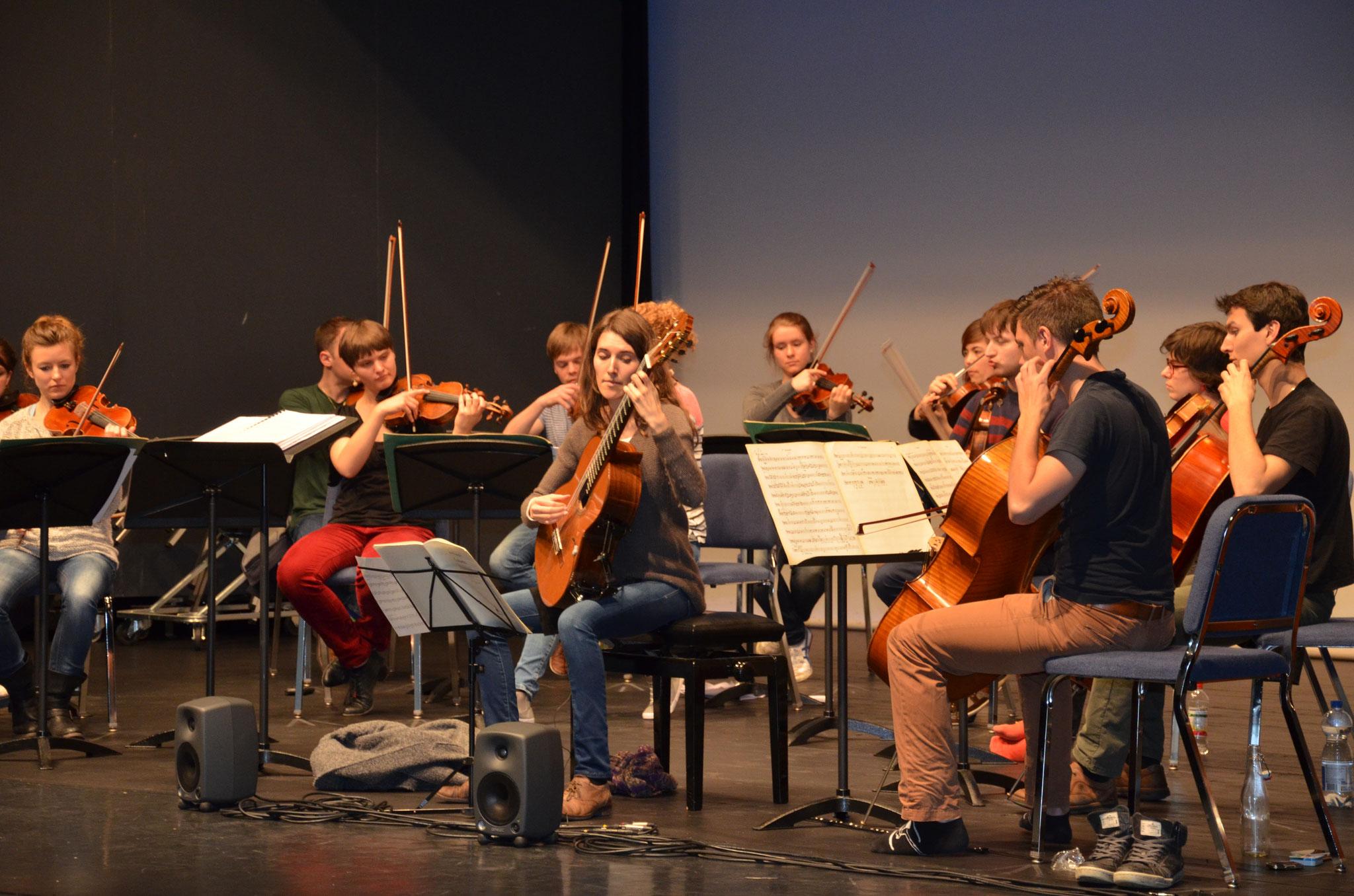 Probe Junge Musiktalente Meggen 2014