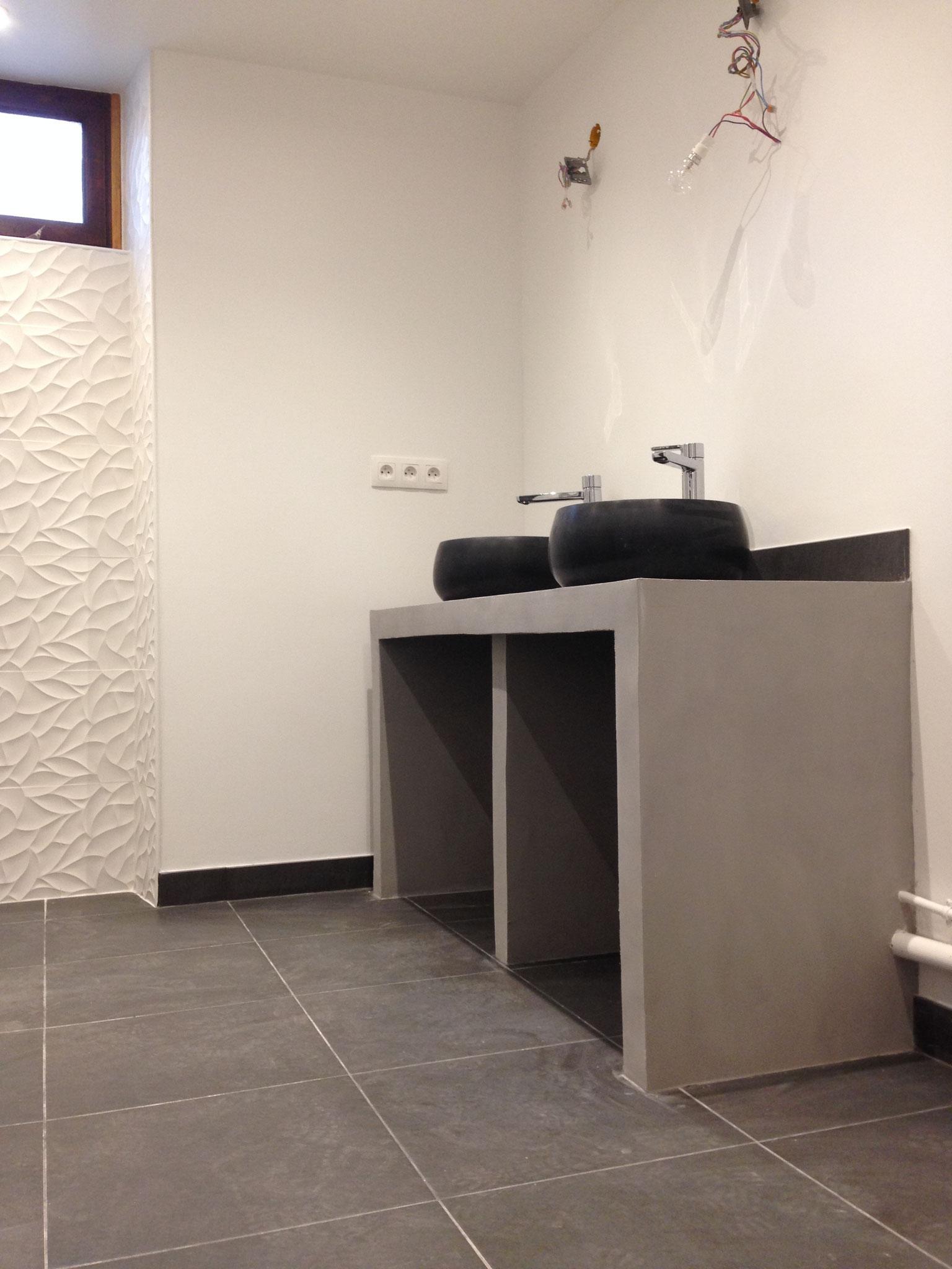 A la fin des travaux - La salle d'eau