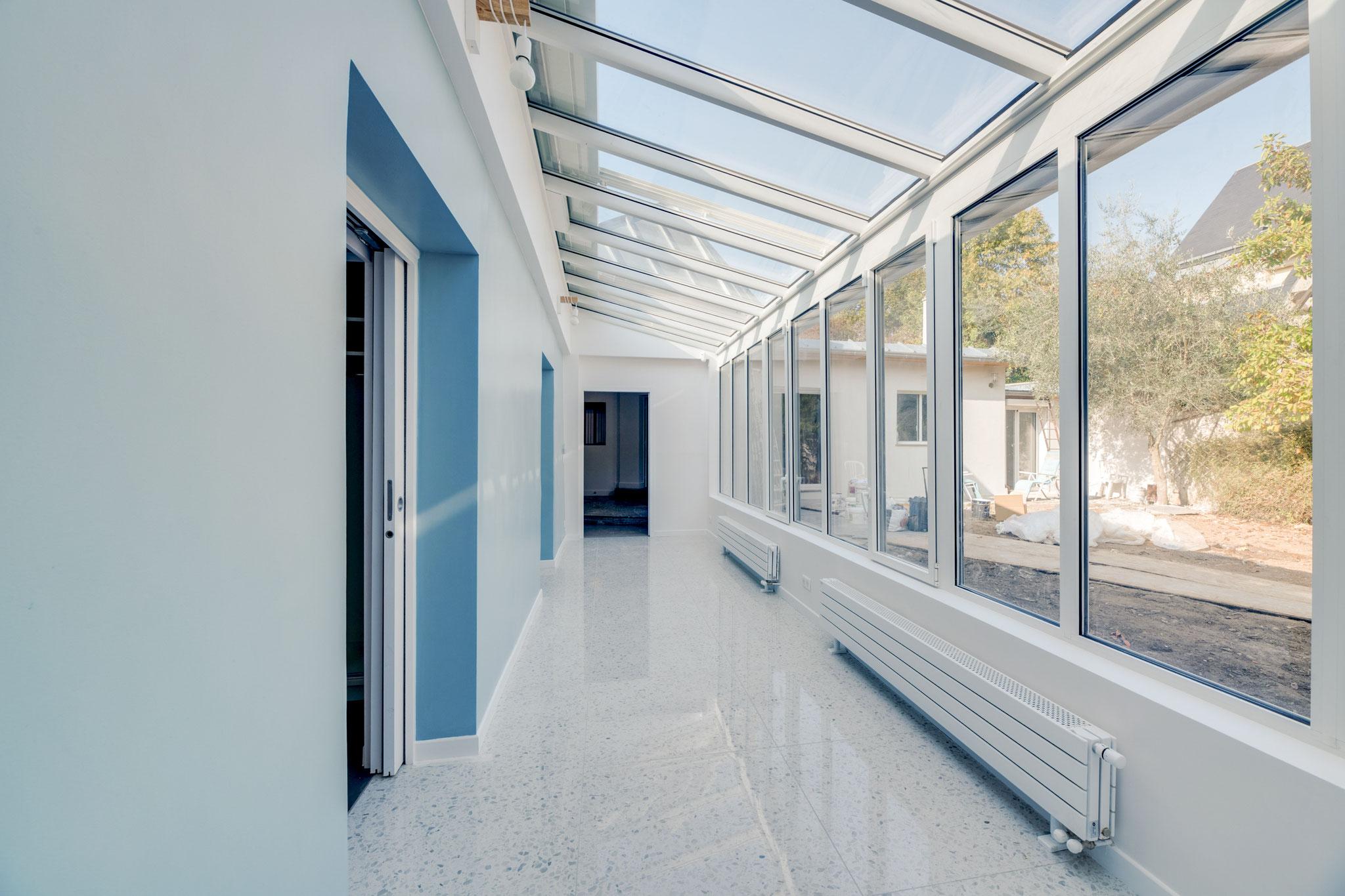 Réalisation - Véranda avec sol en terrazzo