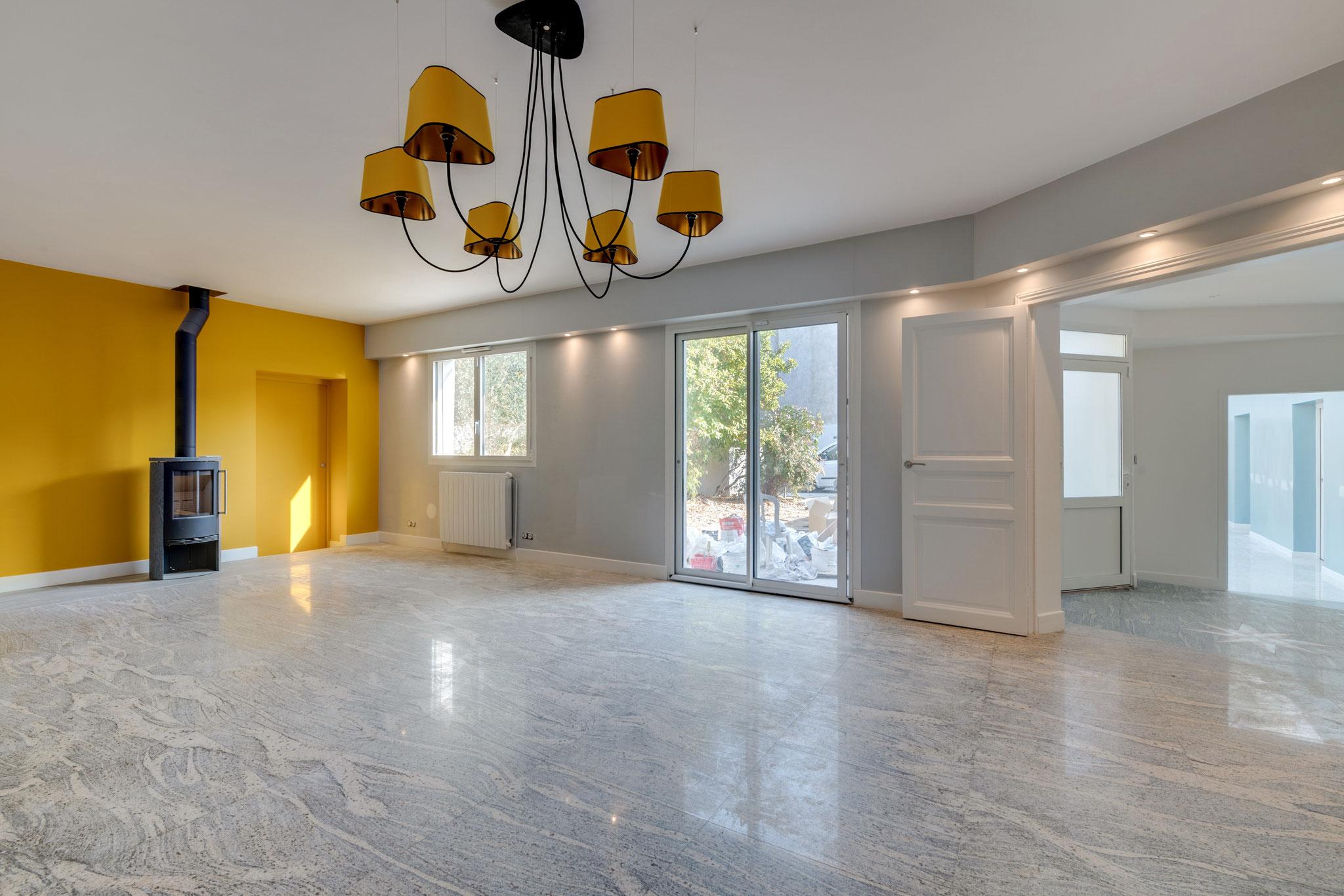 Réalisation - Salon avec marbre au sol