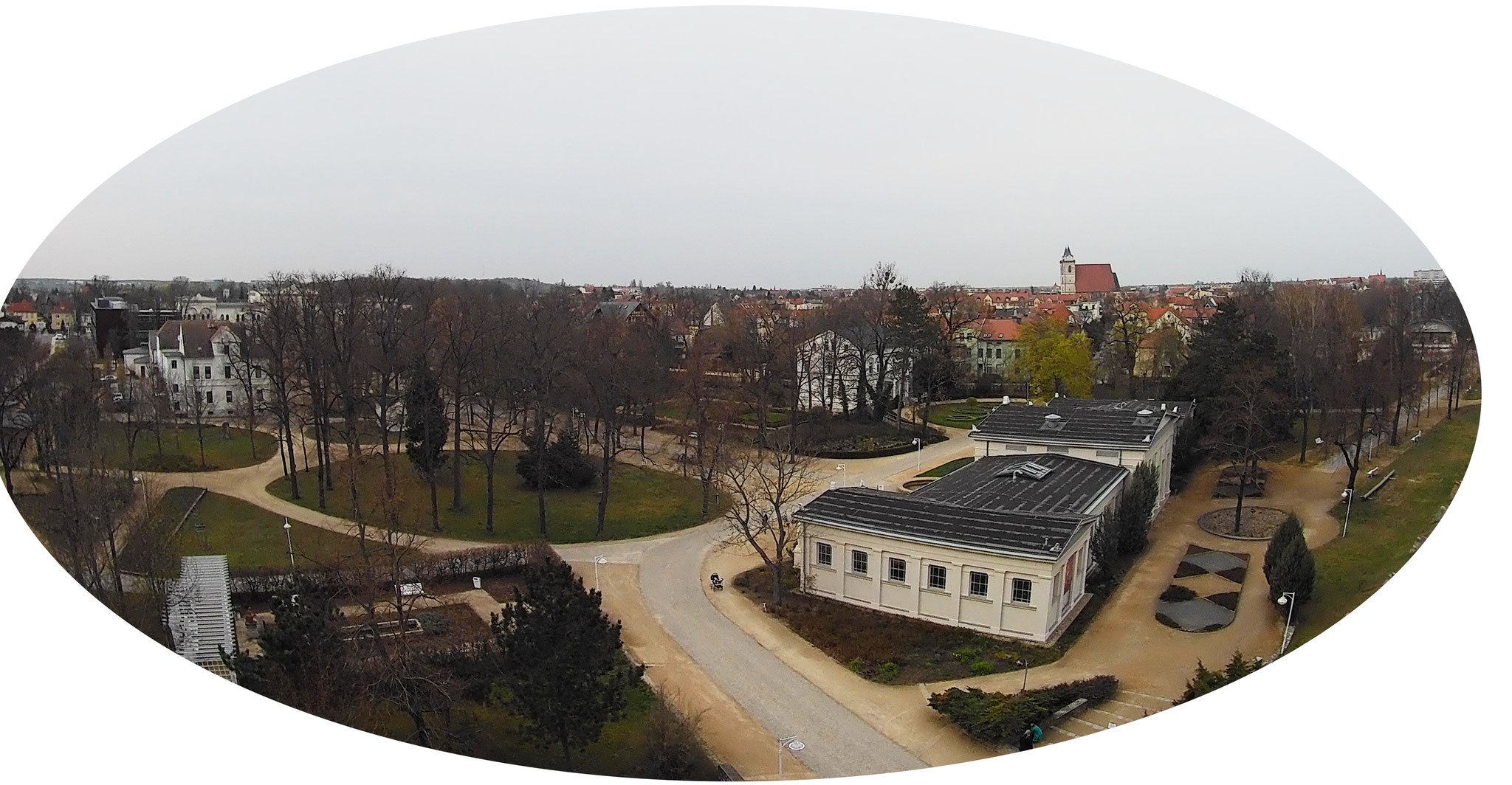 Blick auf den Solepark im Januar