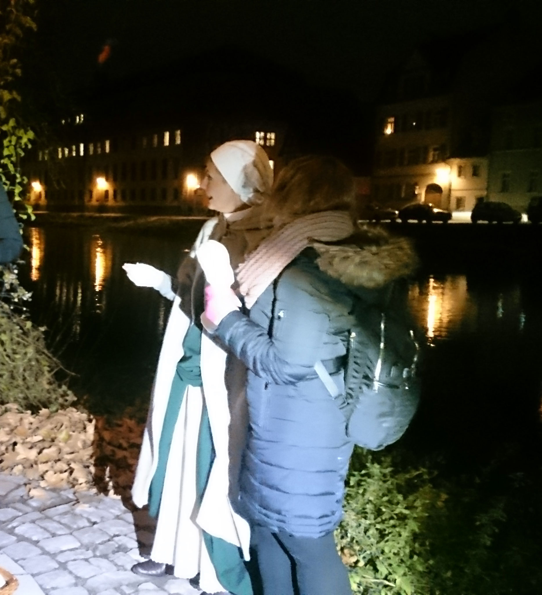 Nachtstimmung am Fluß