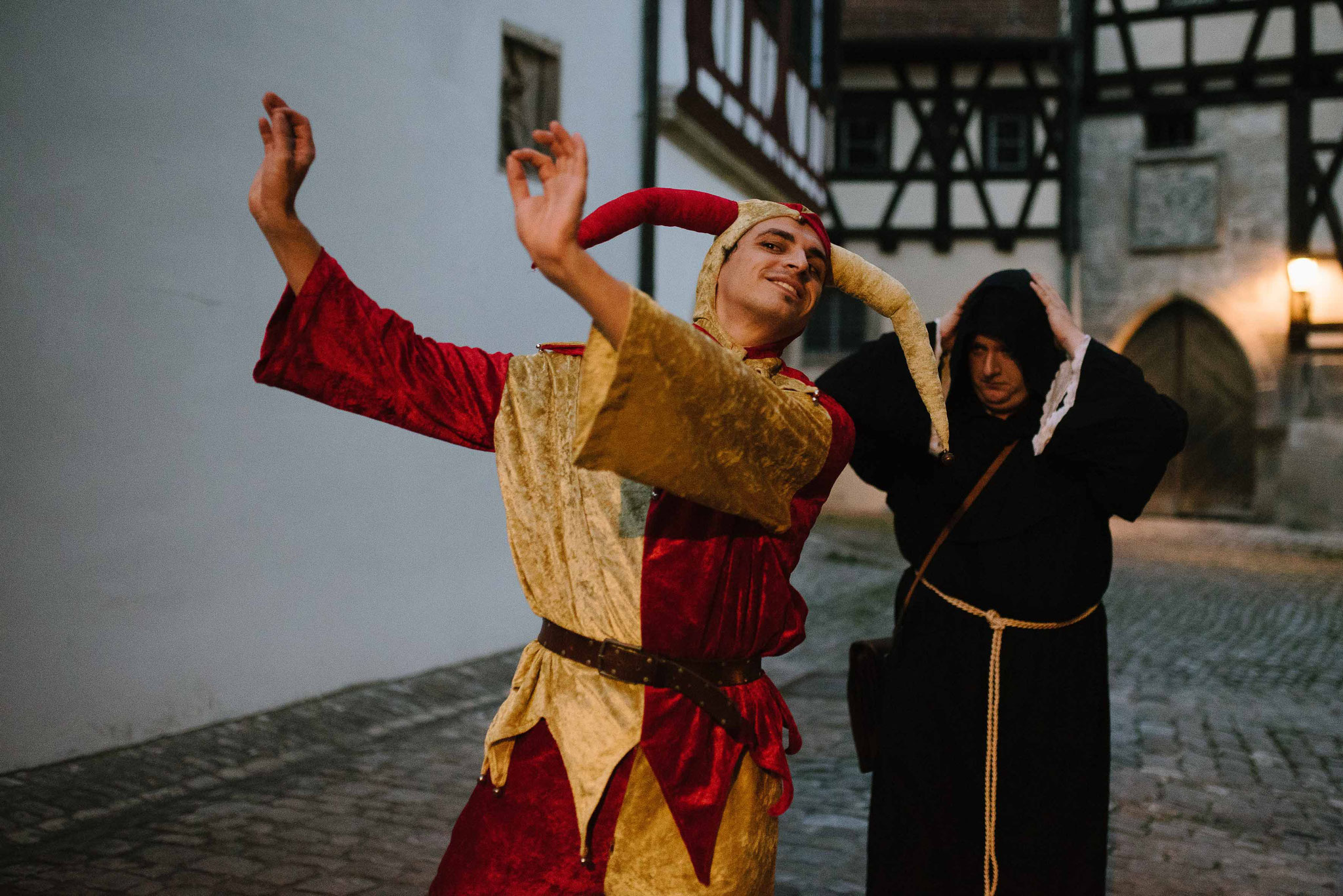 Eulenspiegel und Mönch Berengar im Königsmord