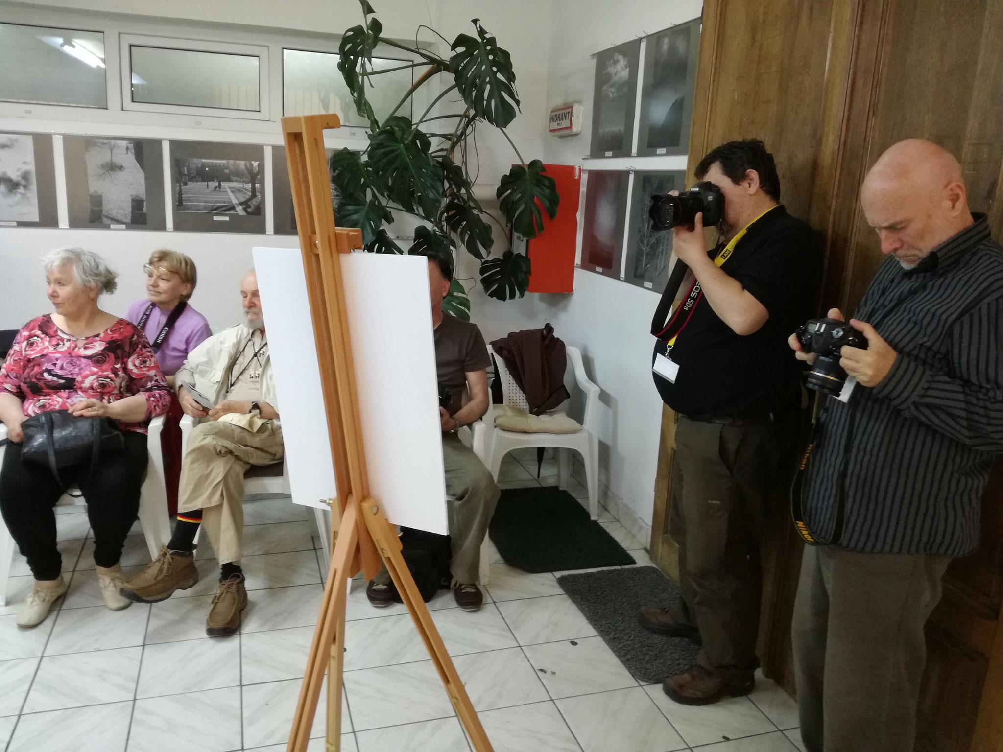 The opening of Virág István's EFIAP, Sombor (SRB ) personal exhibit