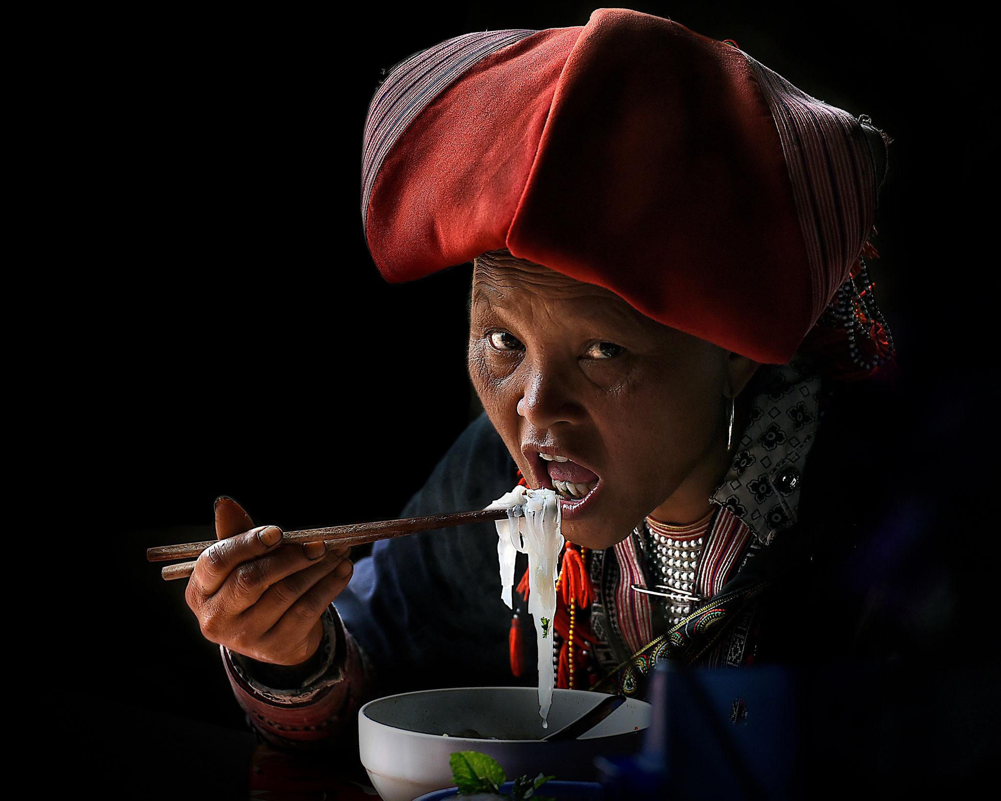 Irene Perovich (Italy) -  Dzao woman eating