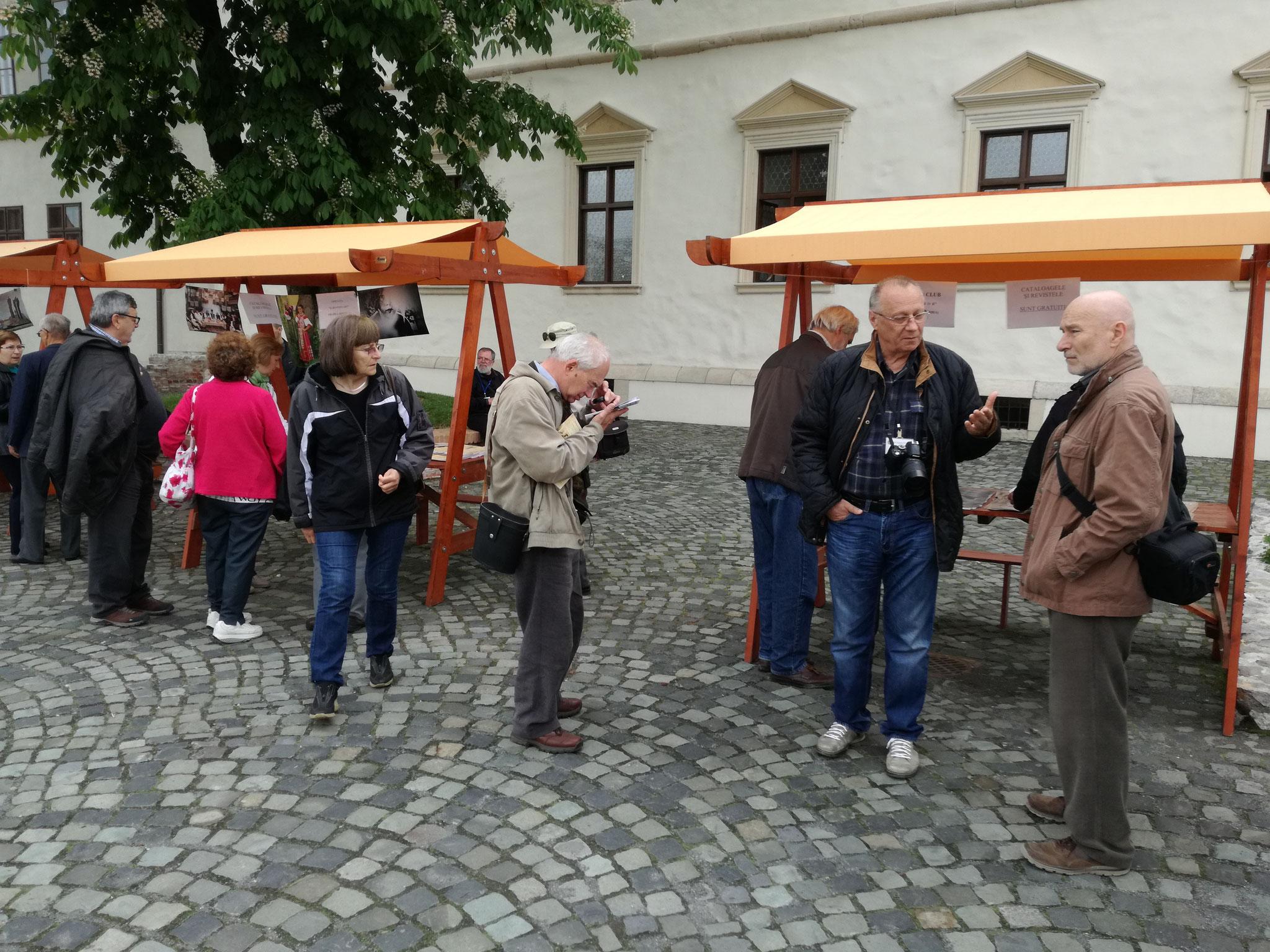 Expoziții în aer liber în curtea Cetății Medievale Oradea