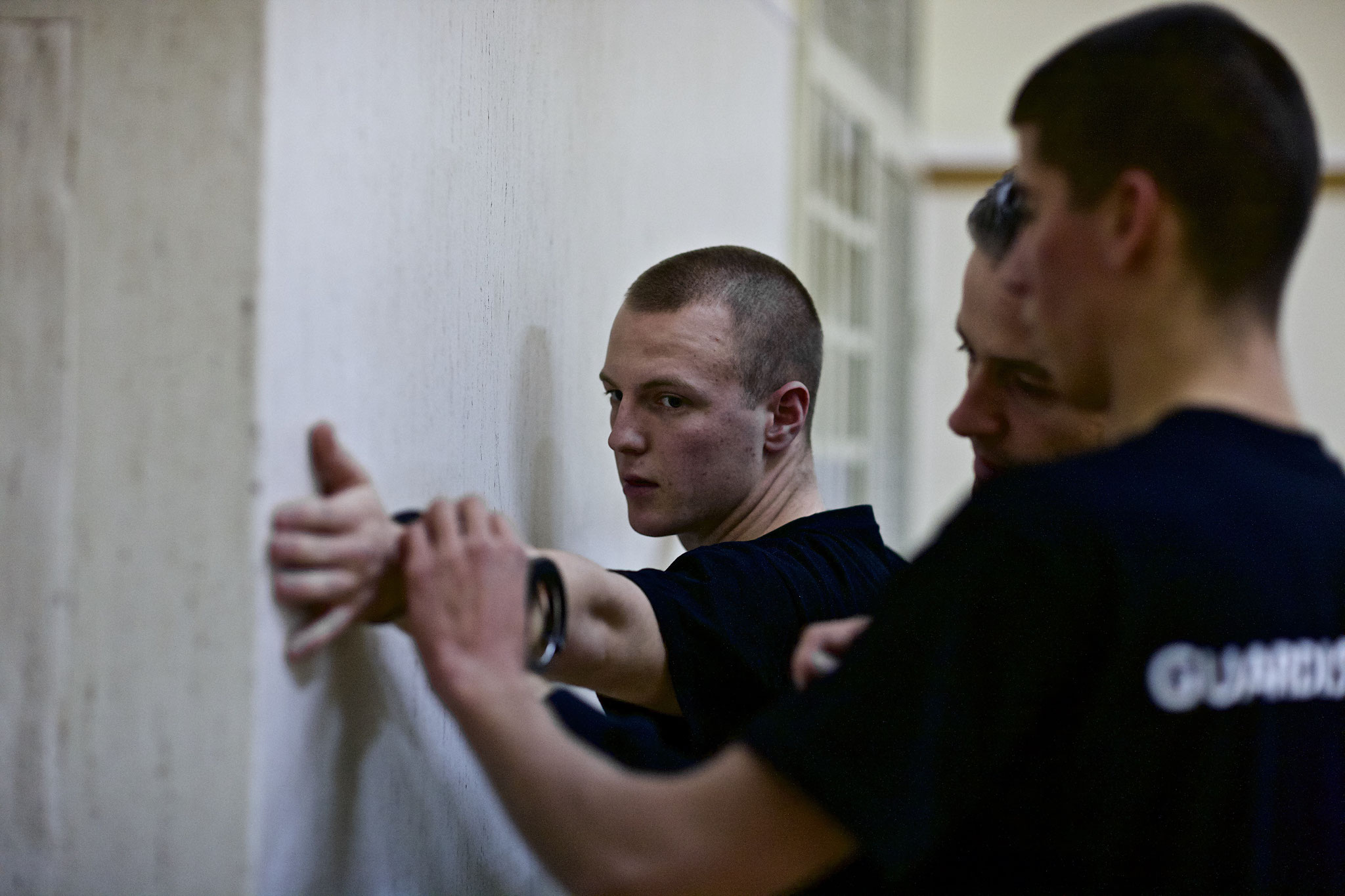Getting trained in detaining methods.