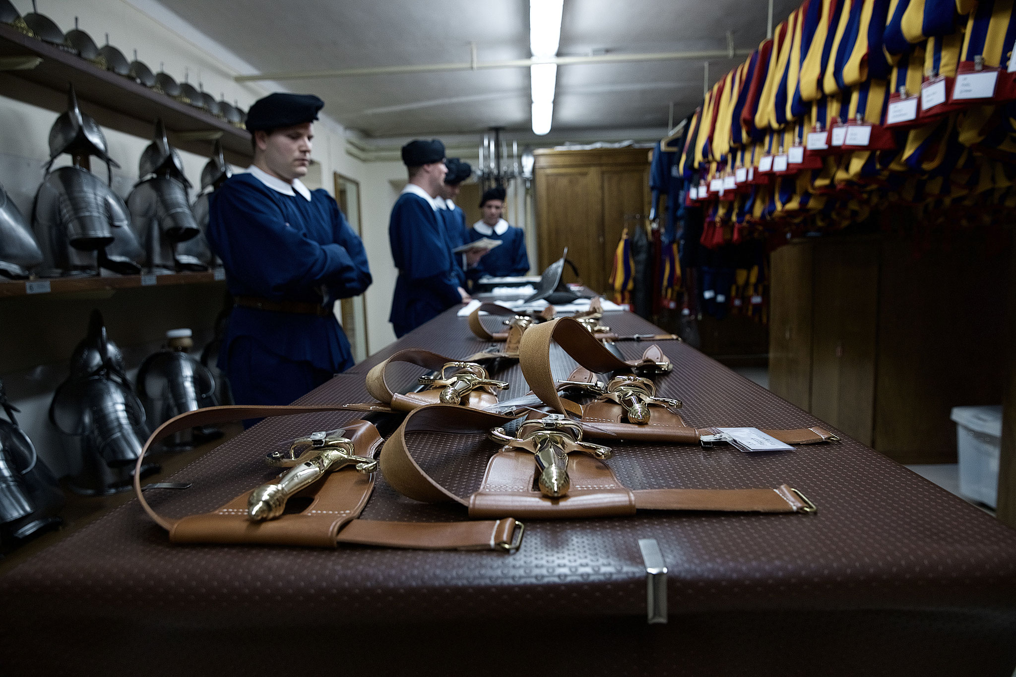 Receiving the Gala Uniform and sword.