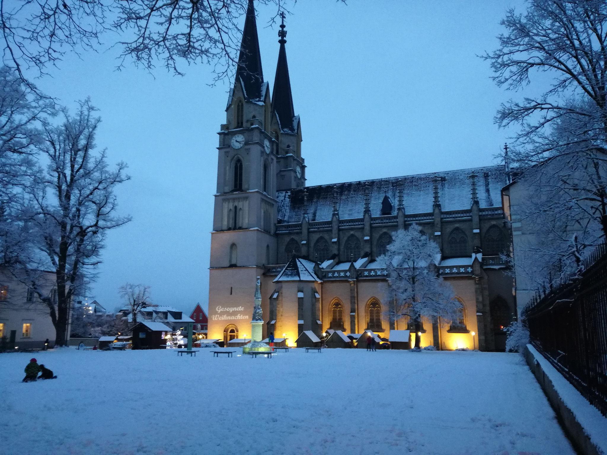 Die Stiftskirche.