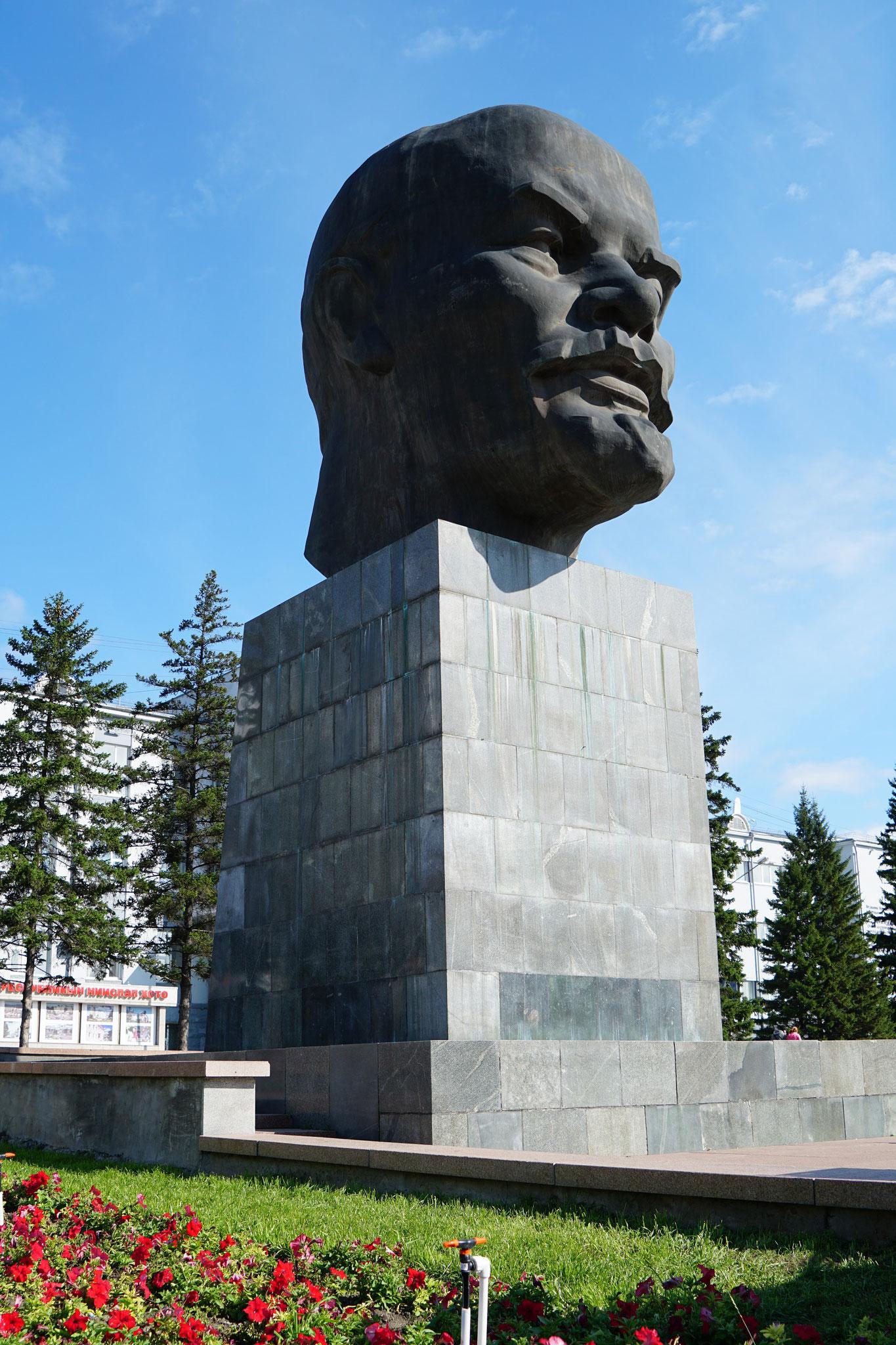 Lenin-Statue , diesmal nur der Kopf