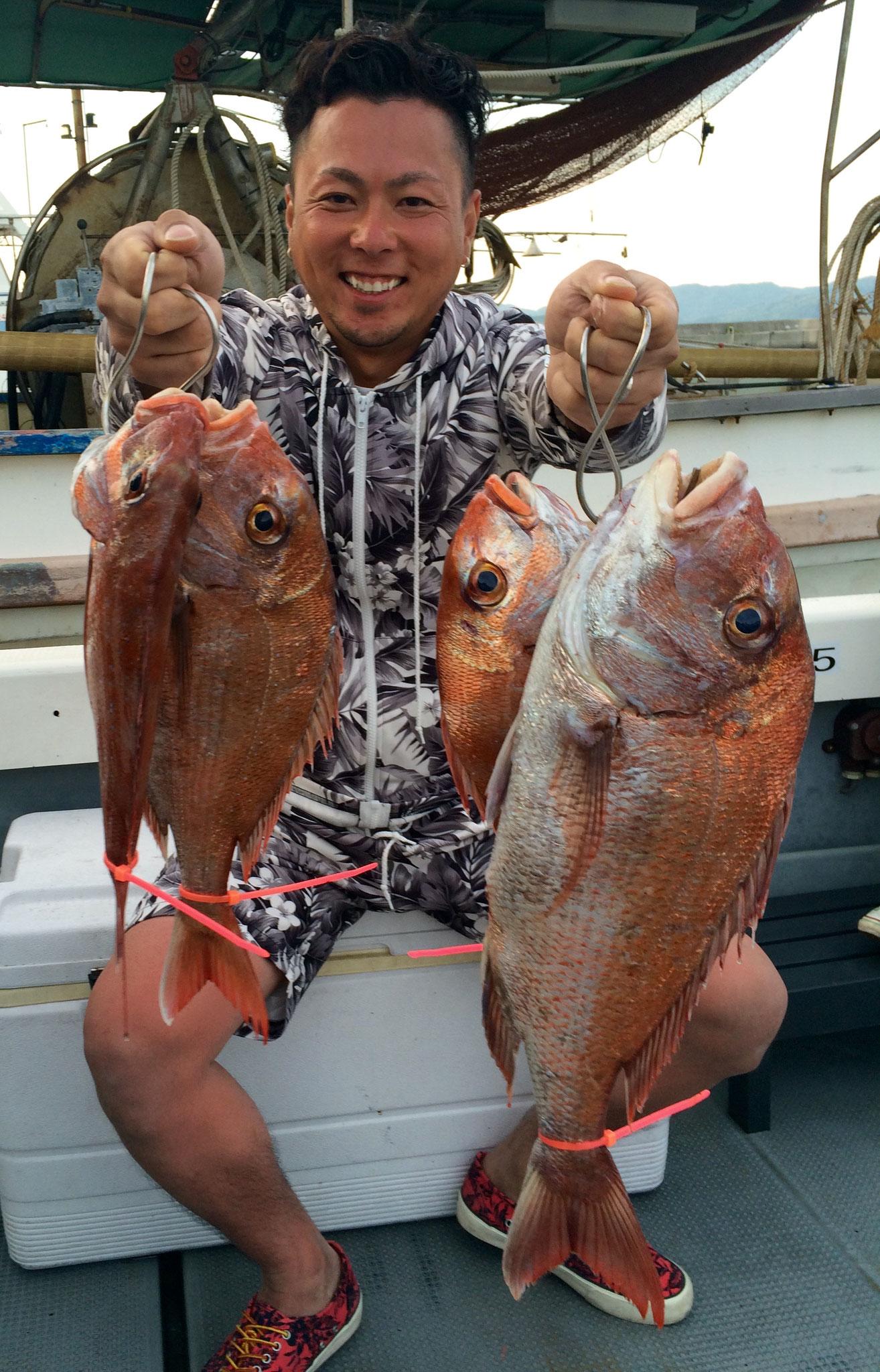 初タイラバで4fishお見事でした!