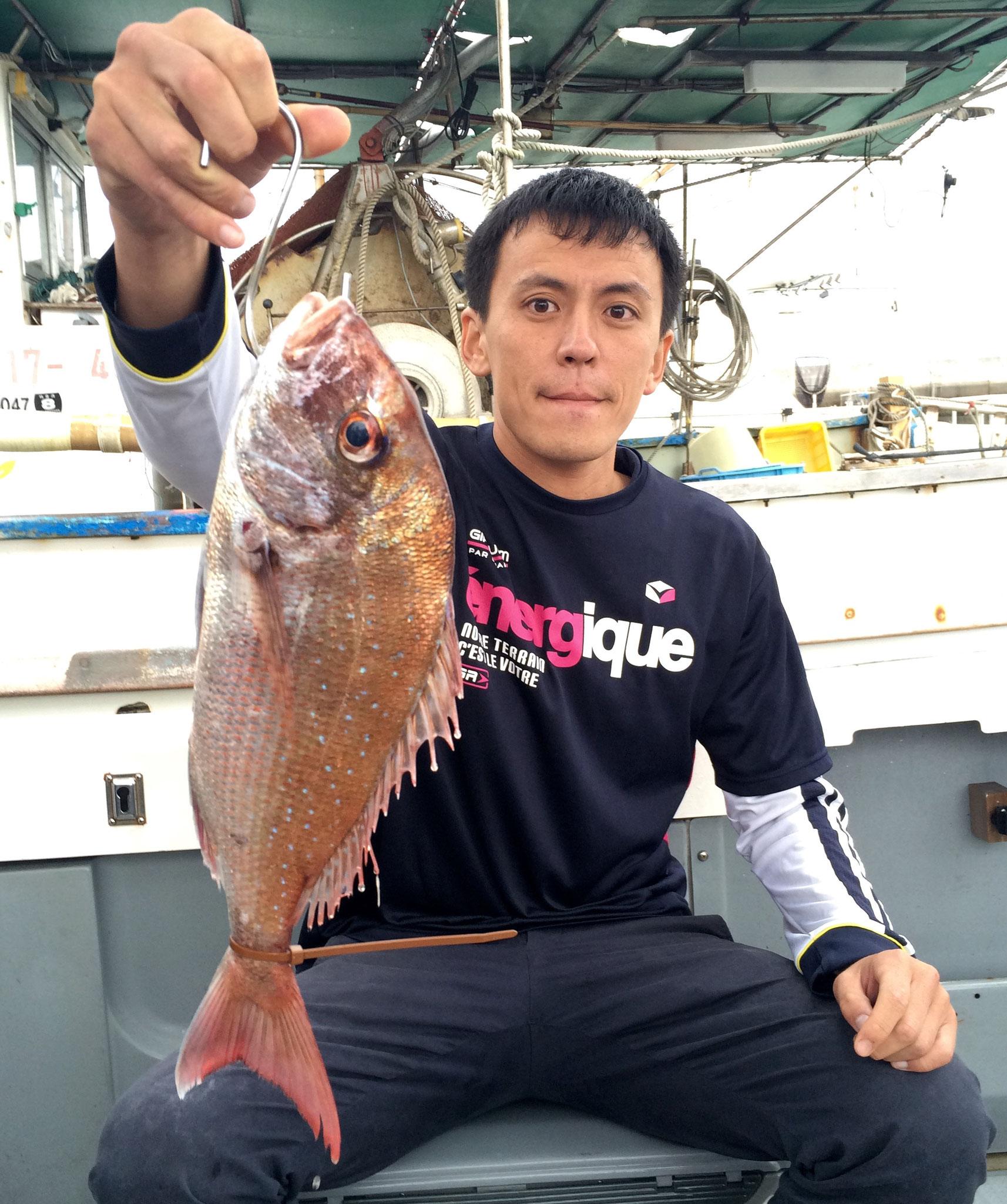 初タイラバでゲット!!魚の気持ちを考えましょう!(笑)