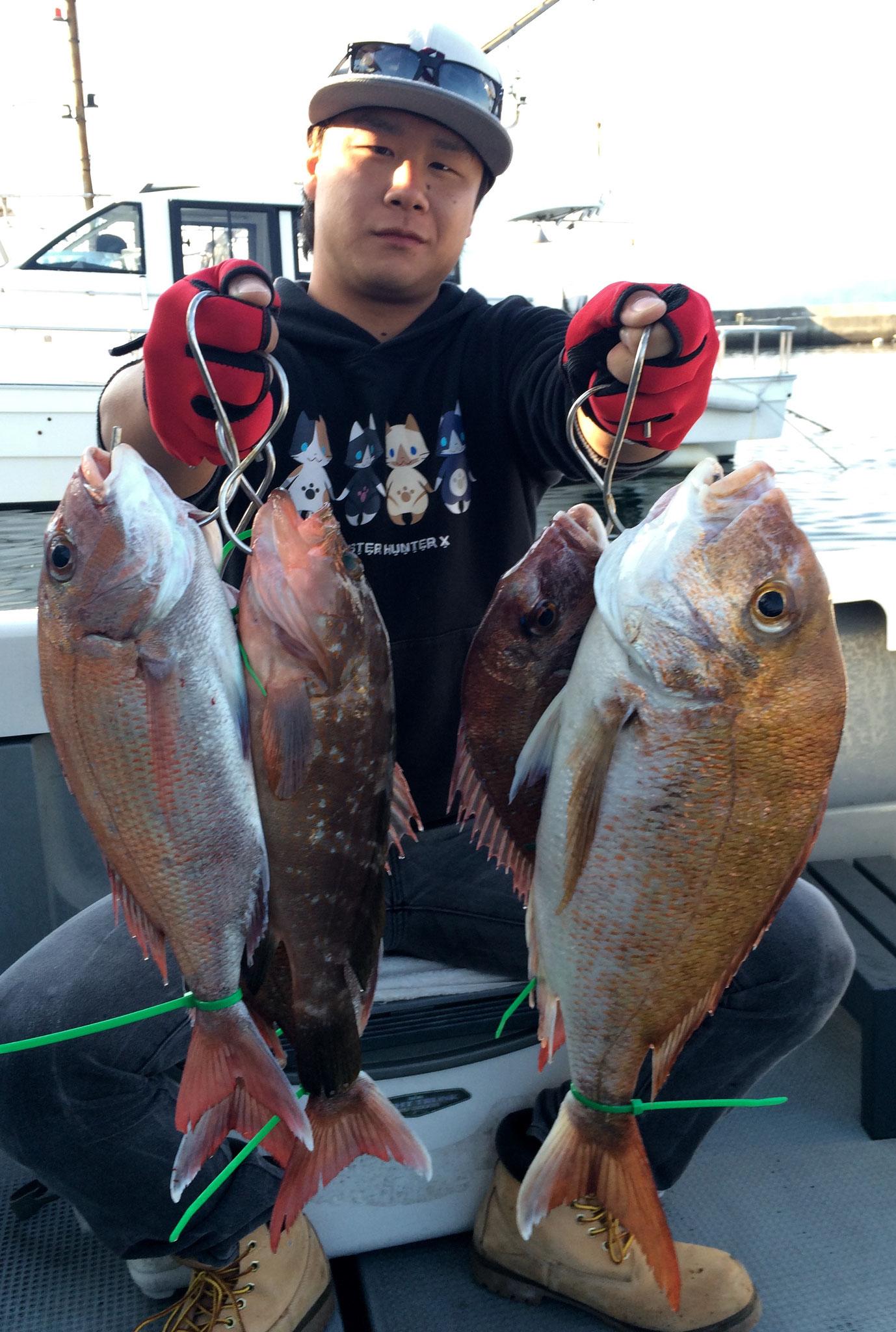 初タイラバで5fish!&AKOゲット~~!