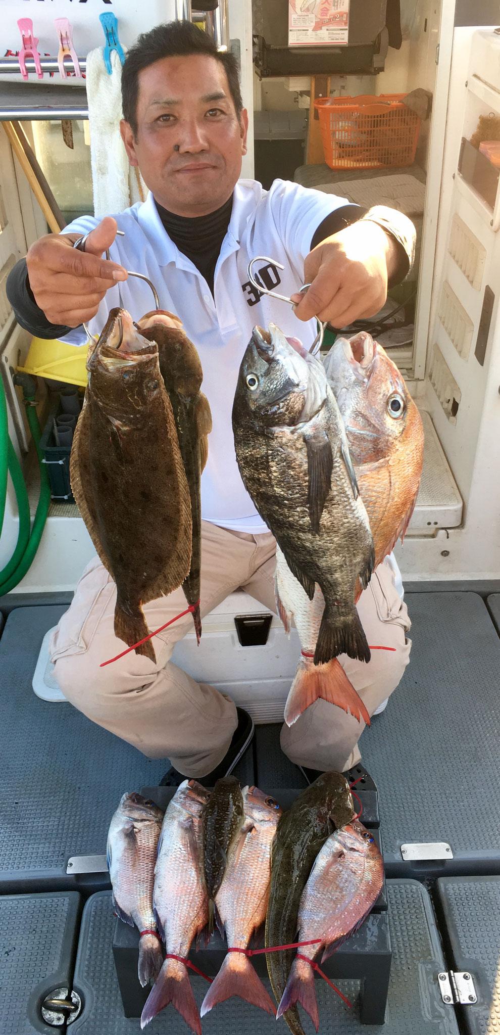 63㎝頭に5Fish!&五目達成(笑) よう釣ります!